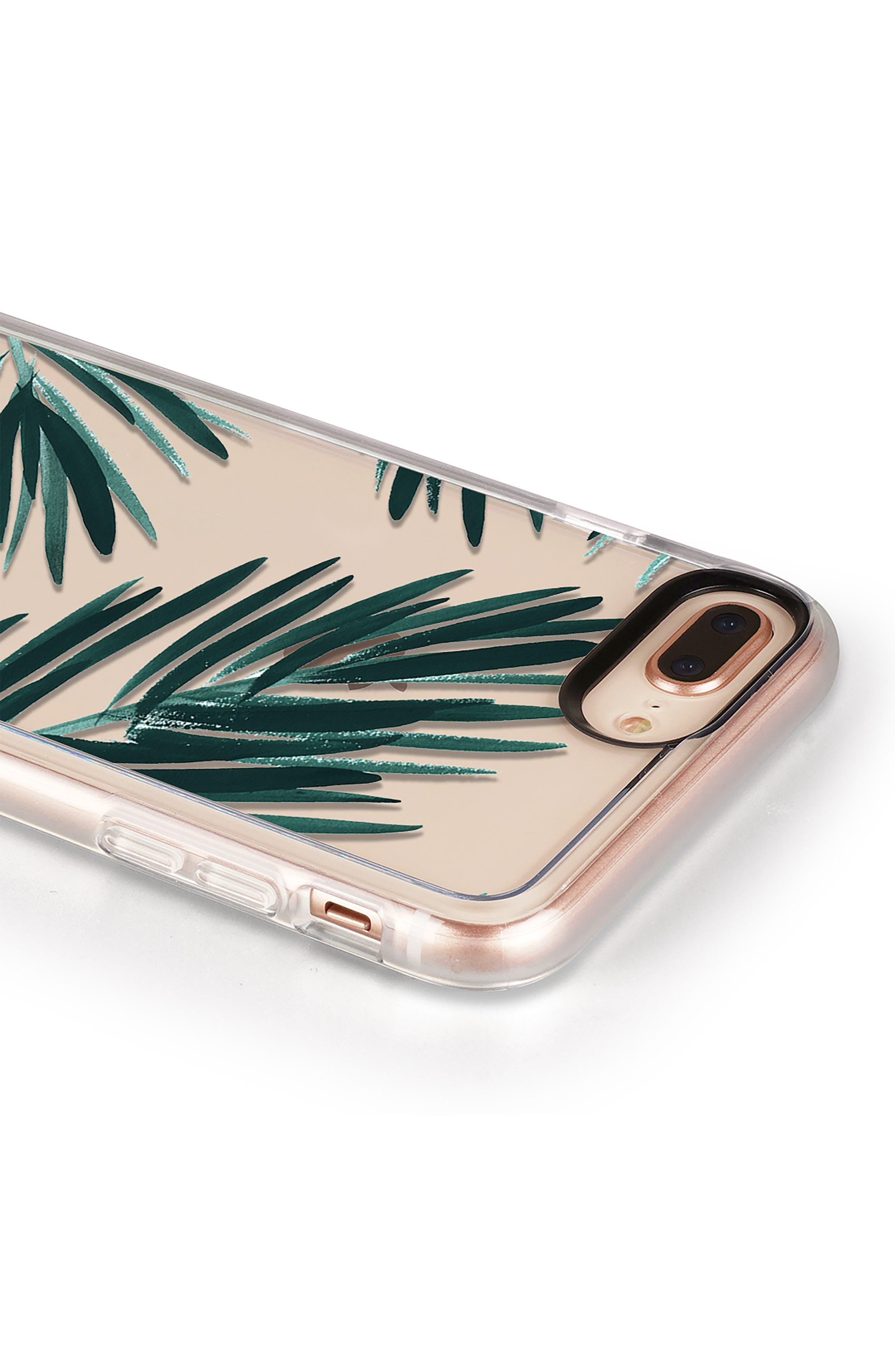 CASETIFY, Palm Fronds iPhone 7/8 & 7/8 Plus Case, Alternate thumbnail 5, color, GREEN