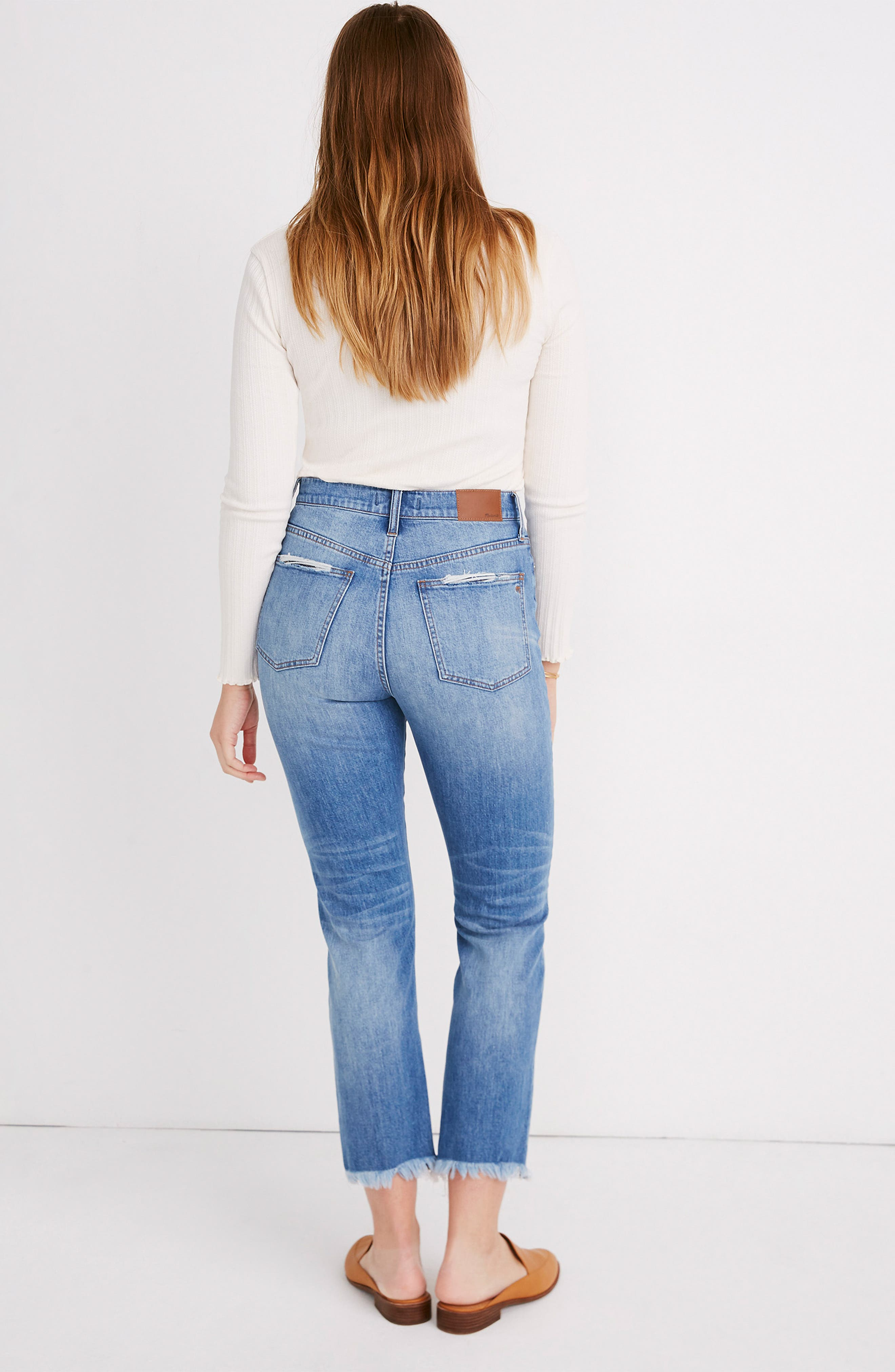 MADEWELL, The Perfect Vintage Crop High Waist Jeans, Alternate thumbnail 11, color, PARNELL WASH