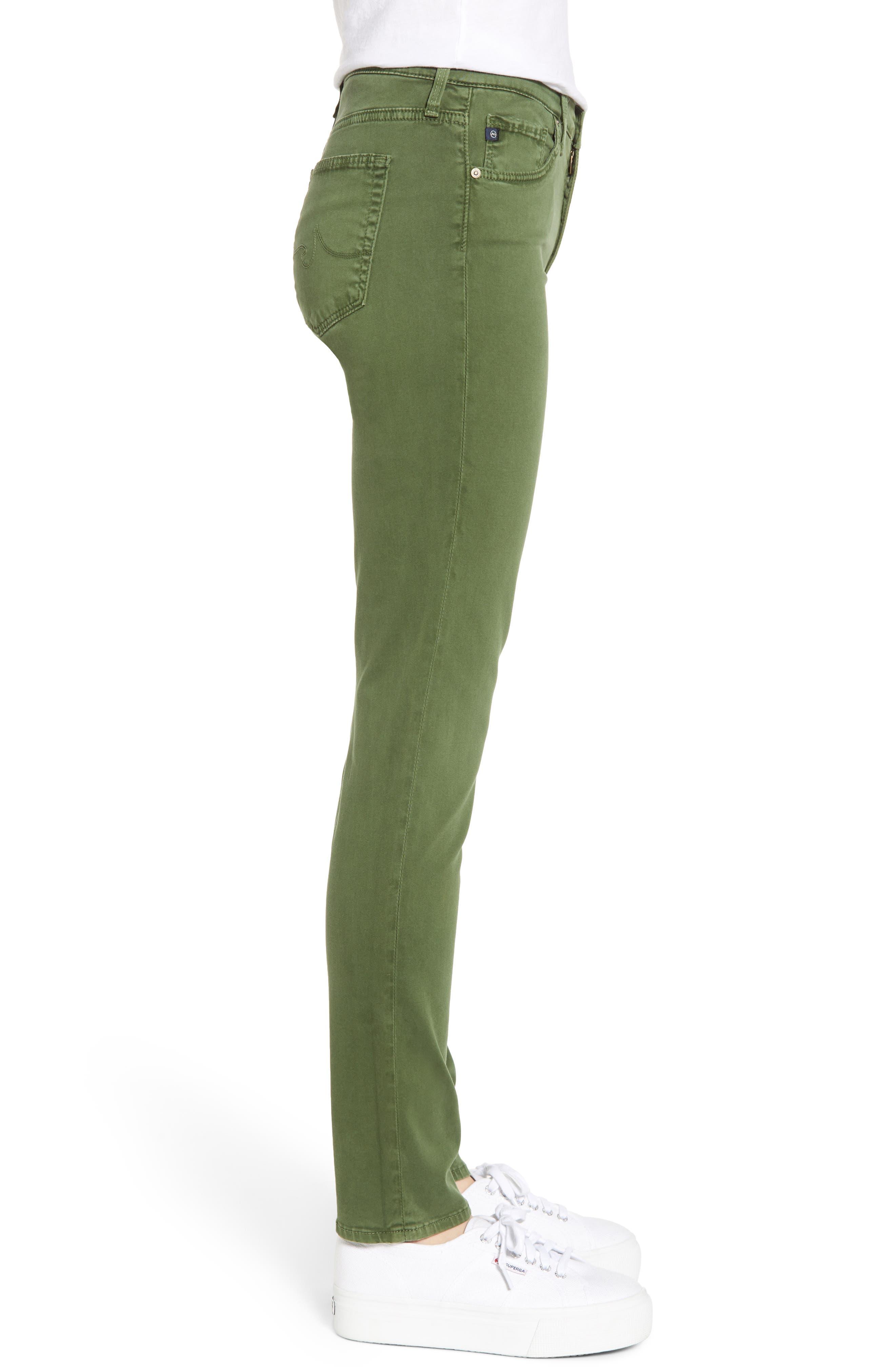 AG, 'The Prima' Cigarette Leg Skinny Jeans, Alternate thumbnail 4, color, SULFUR NEW SPRUCE