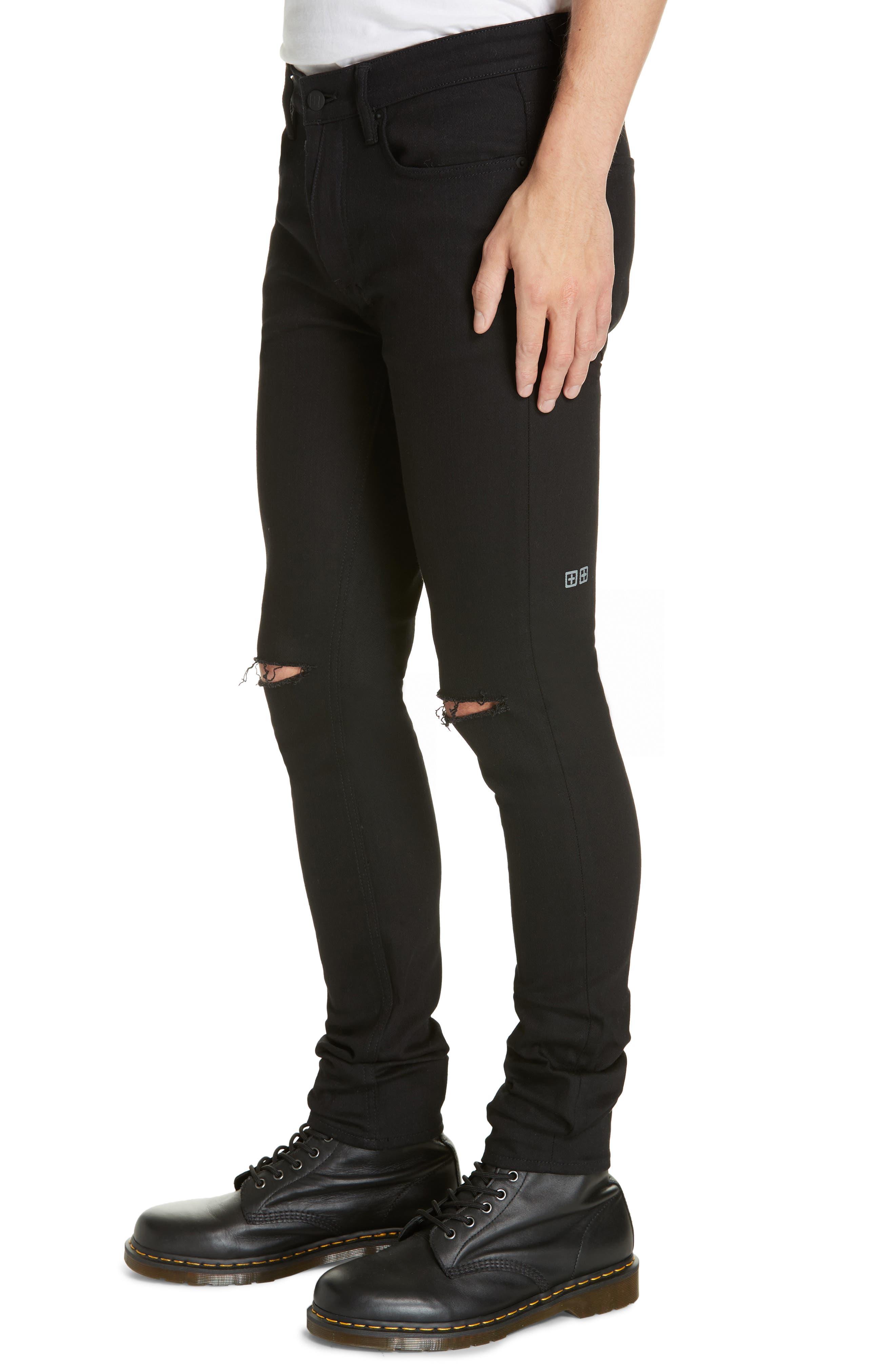 KSUBI, Van Winkle Ace Slice Jeans, Alternate thumbnail 4, color, BLACK