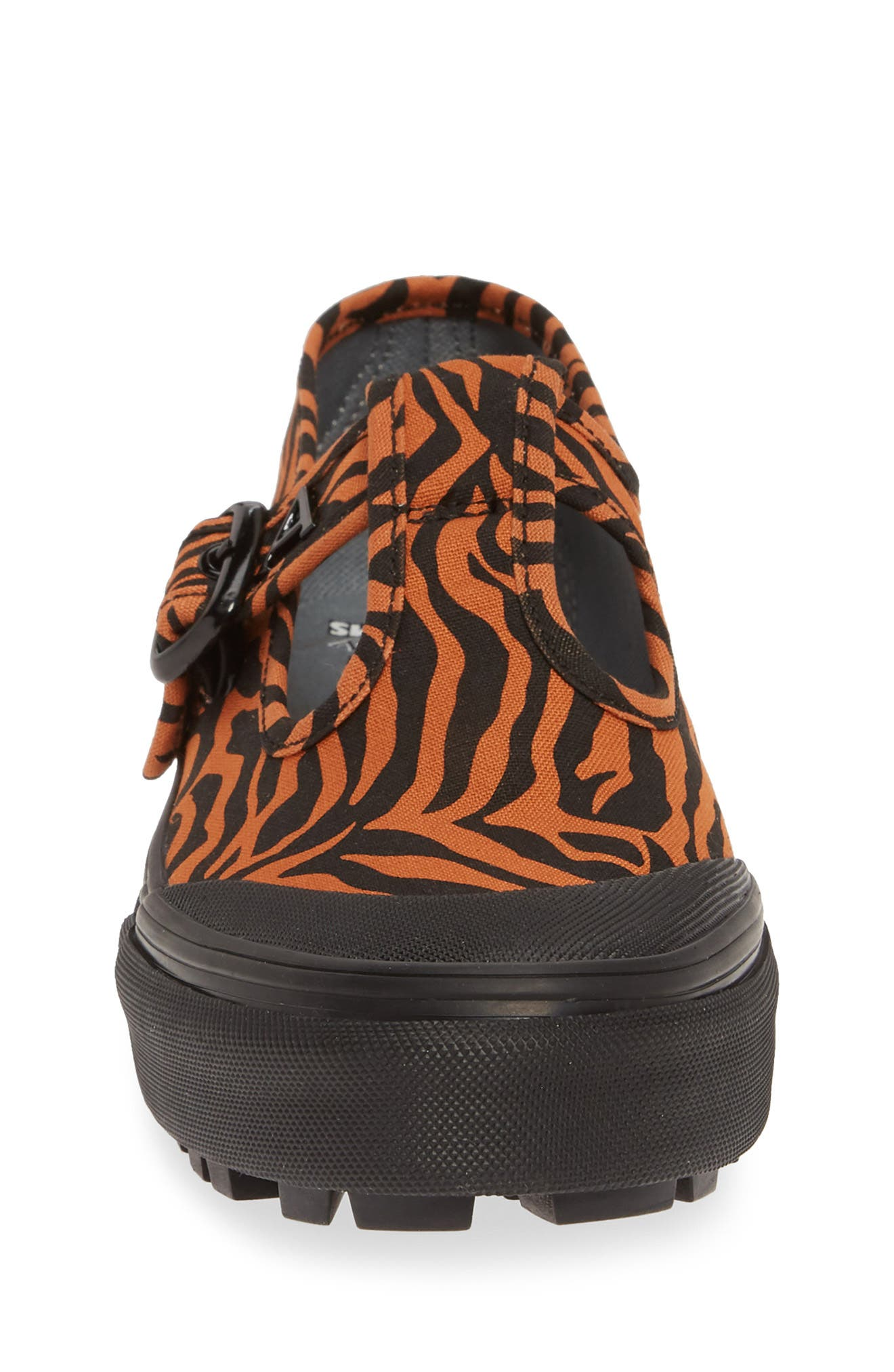 VANS, x Ashley Williams Style 38 Tiger Sneaker, Alternate thumbnail 4, color, TIGER/ BLACK