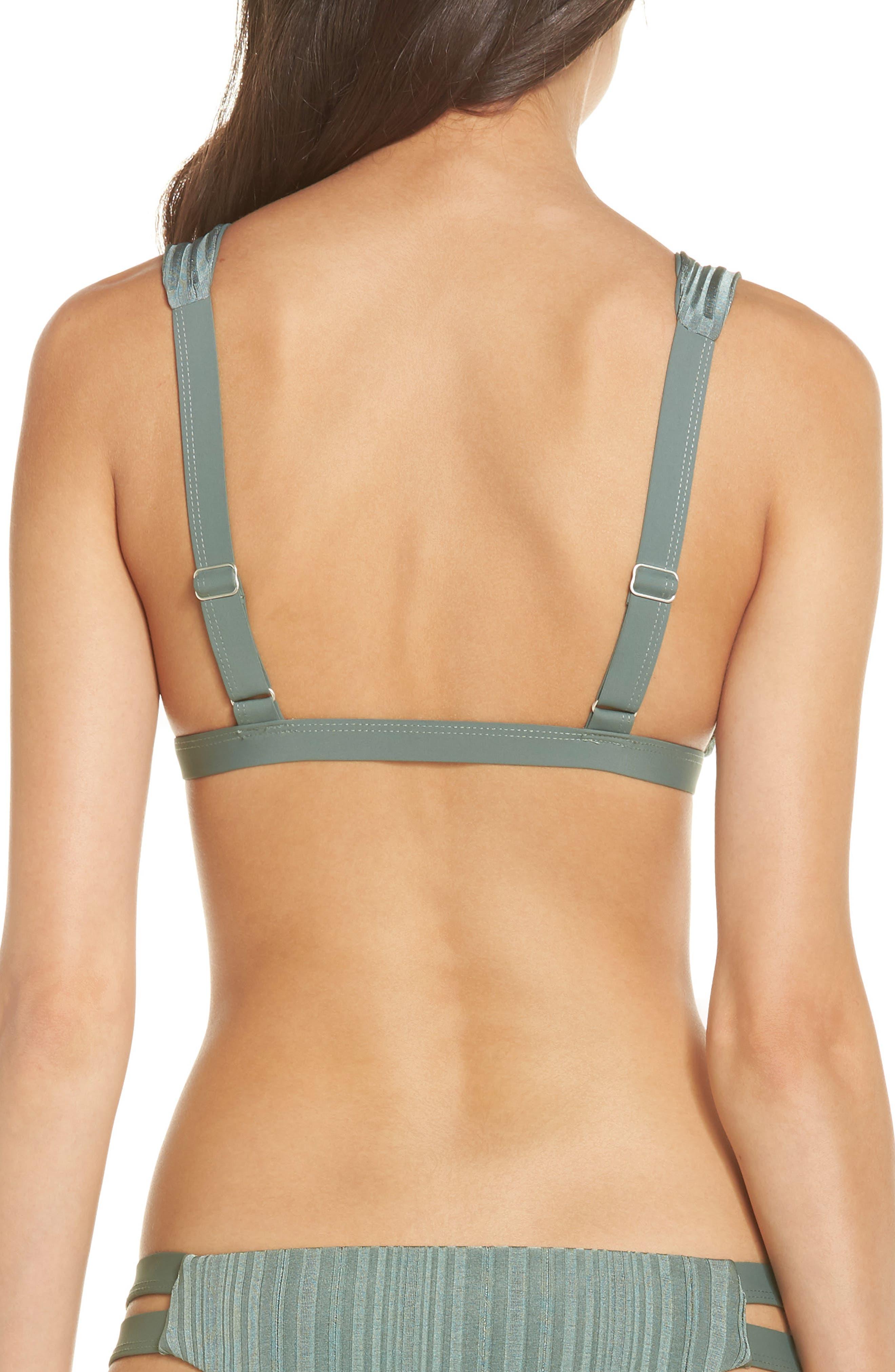 TAVIK, Caroline Bikini Top, Alternate thumbnail 2, color, MEADOW GREEN