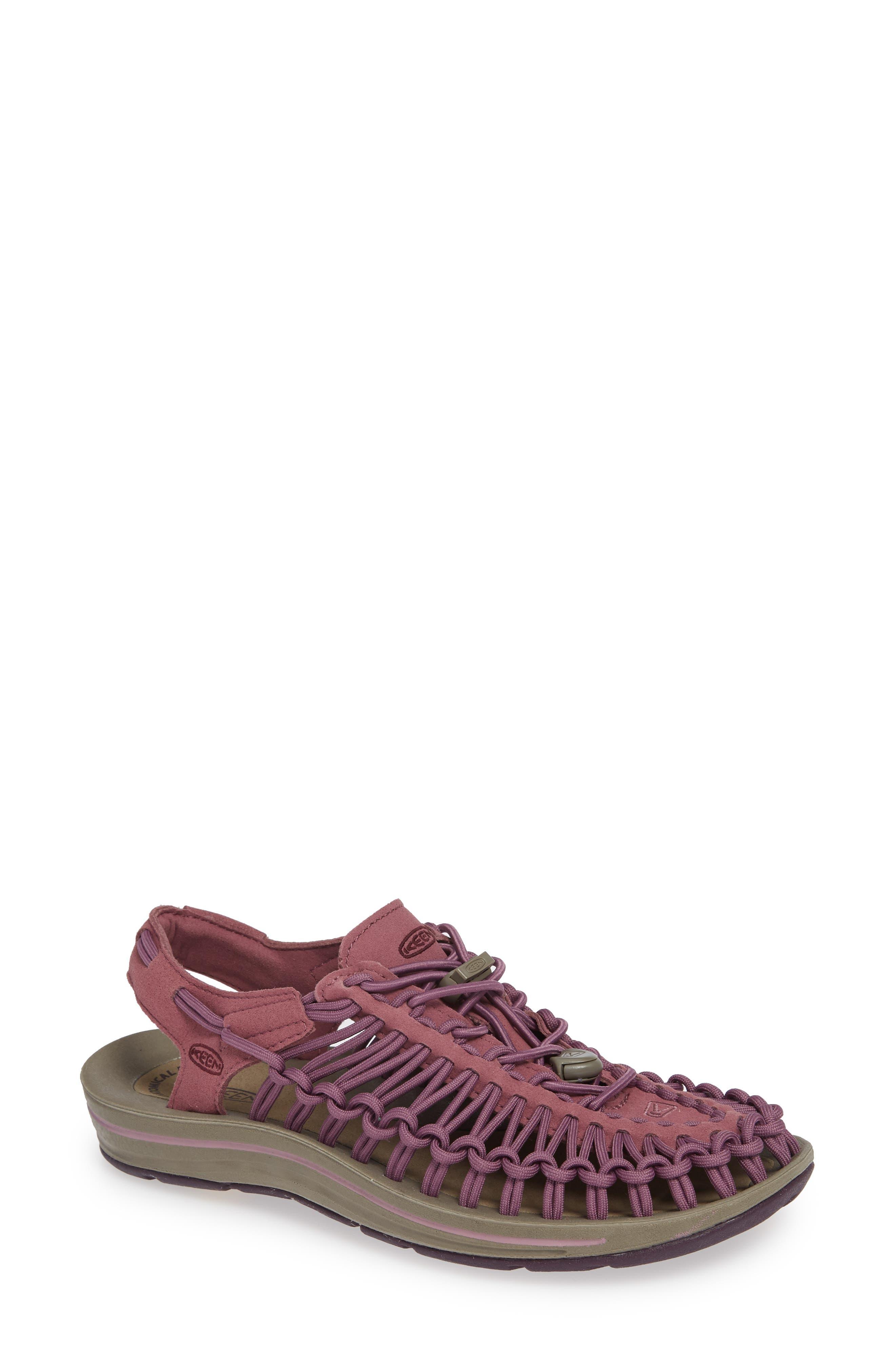KEEN, 'Uneek' Water Sneaker, Main thumbnail 1, color, TULIPWOOD/ WINETASTING