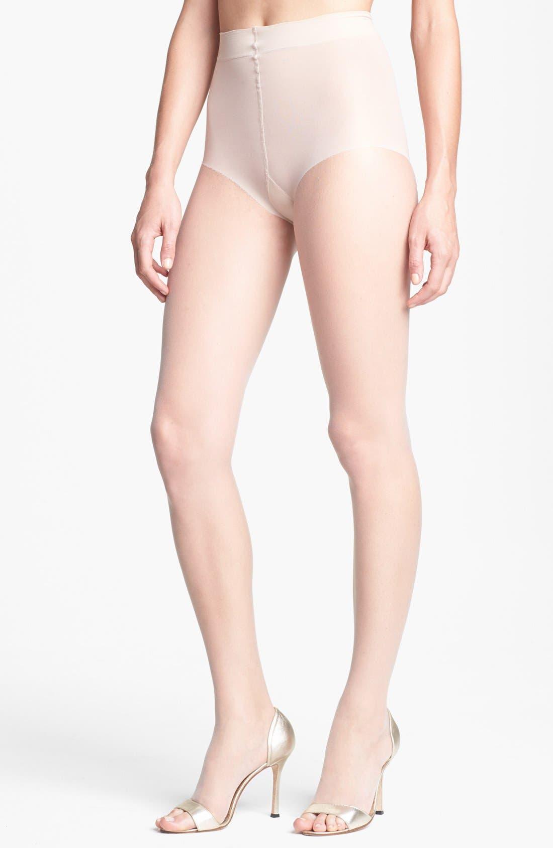 DONNA KARAN NEW YORK, Donna Karan The Nudes Toeless Pantyhose, Main thumbnail 1, color, A01
