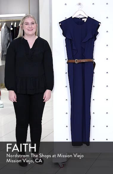 Belted Ruffle Jumpsuit, sales video thumbnail