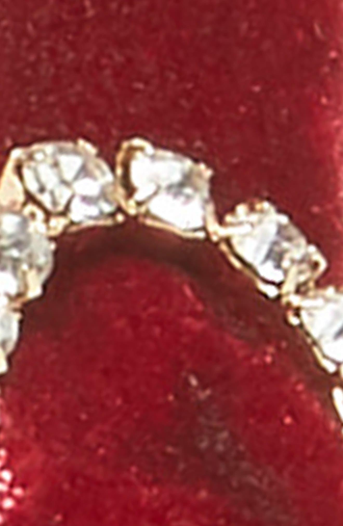 MANIÈRE, Imitation Pearl & Crystal Embellished Velvet Headband, Alternate thumbnail 2, color, 930
