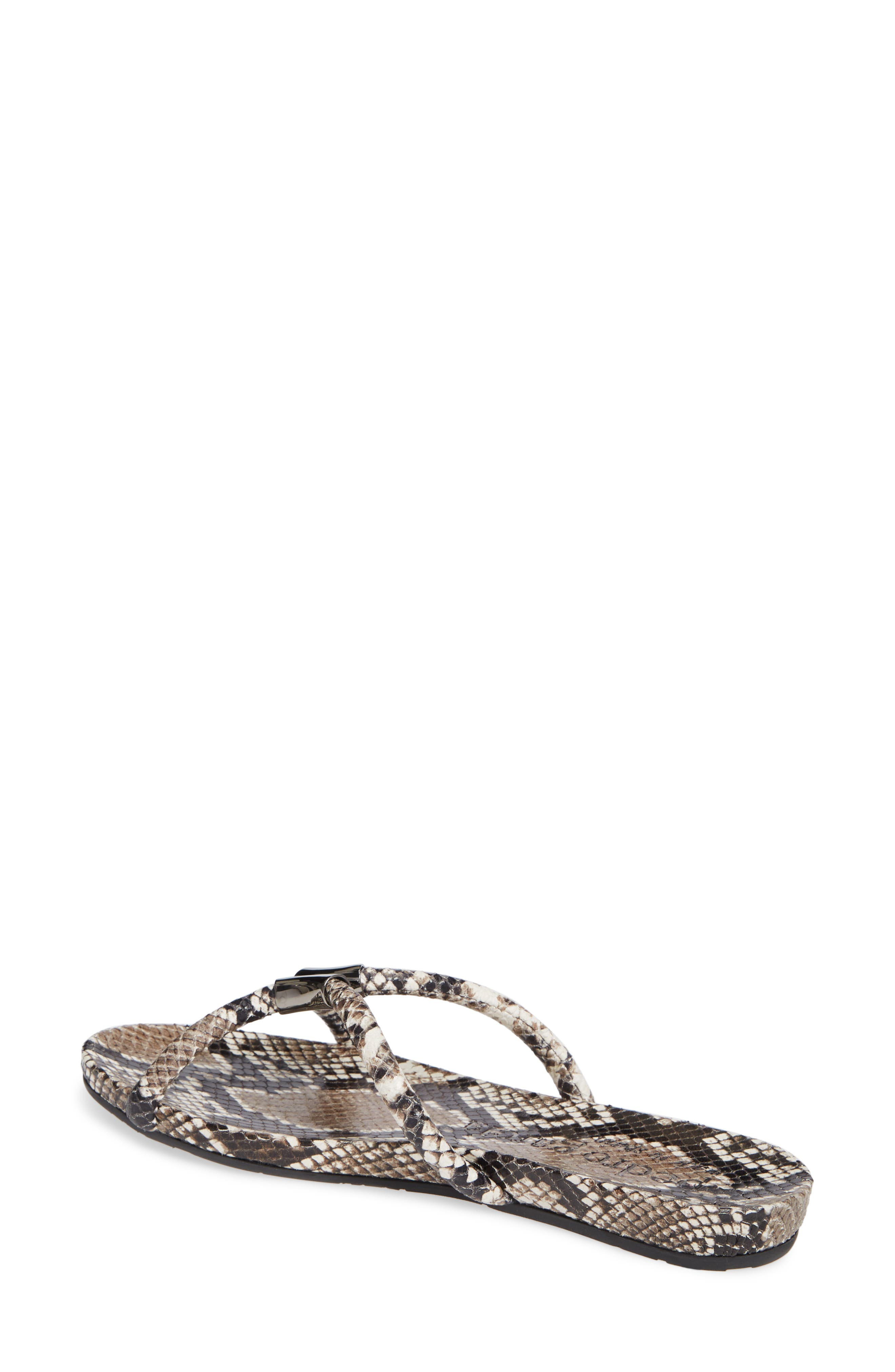 PEDRO GARCIA, Geminy Slide Sandal, Alternate thumbnail 2, color, NATURAL PYTHON