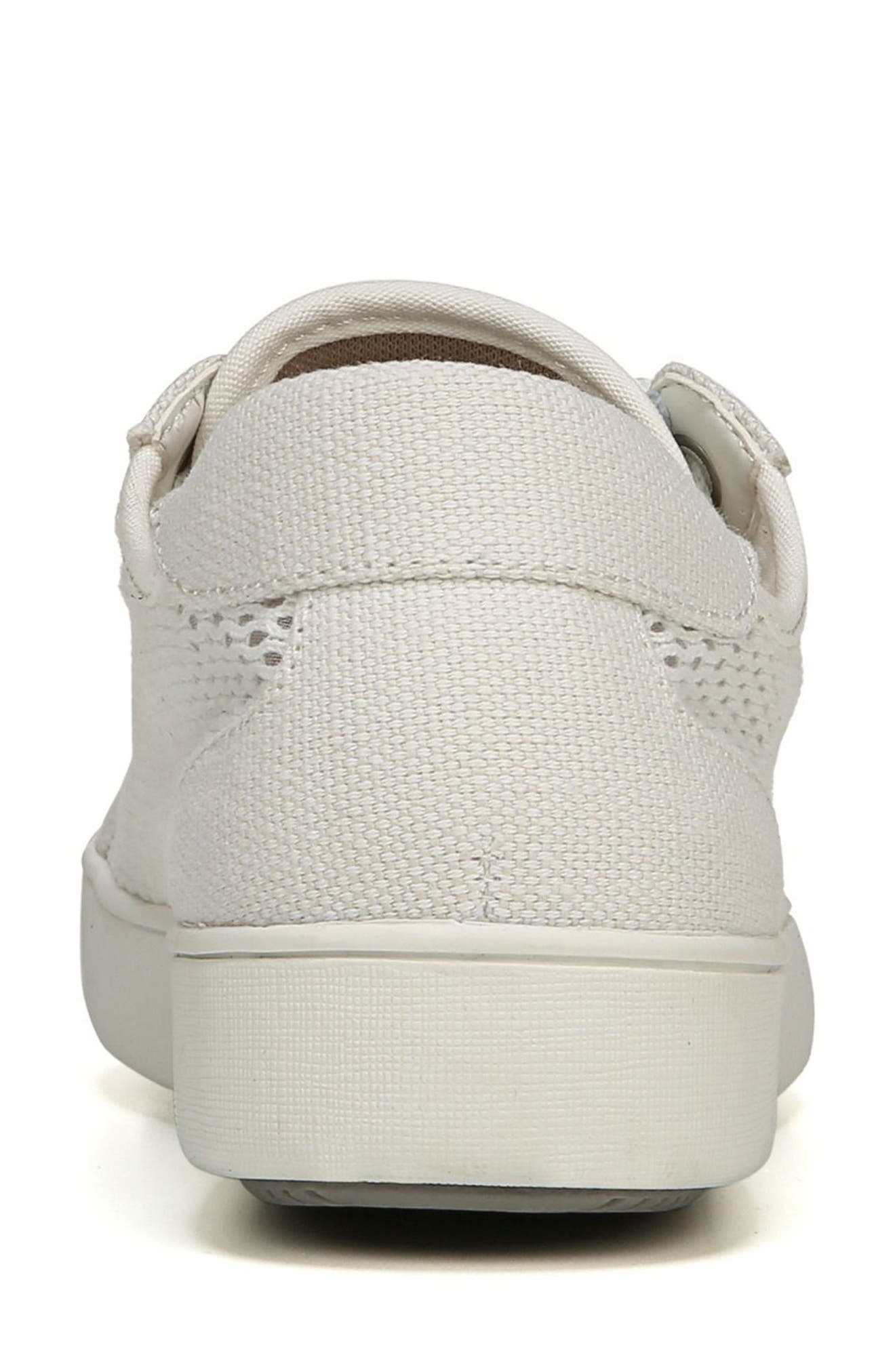 NATURALIZER, Morrison III Perforated Sneaker, Alternate thumbnail 7, color, WHITE FABRIC
