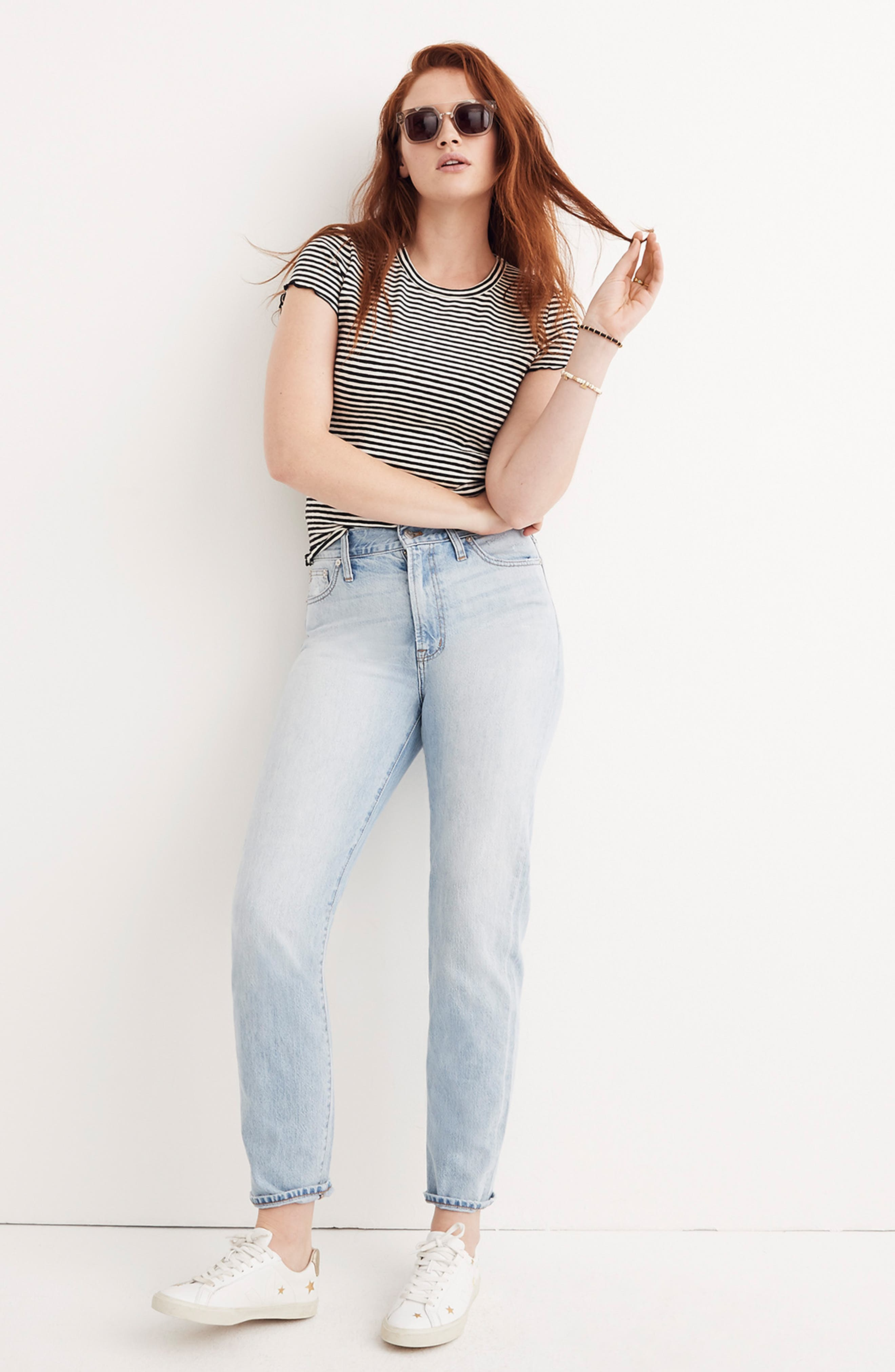 MADEWELL, 'Perfect Summer' High Rise Ankle Jeans, Alternate thumbnail 7, color, FITZGERALD WASH