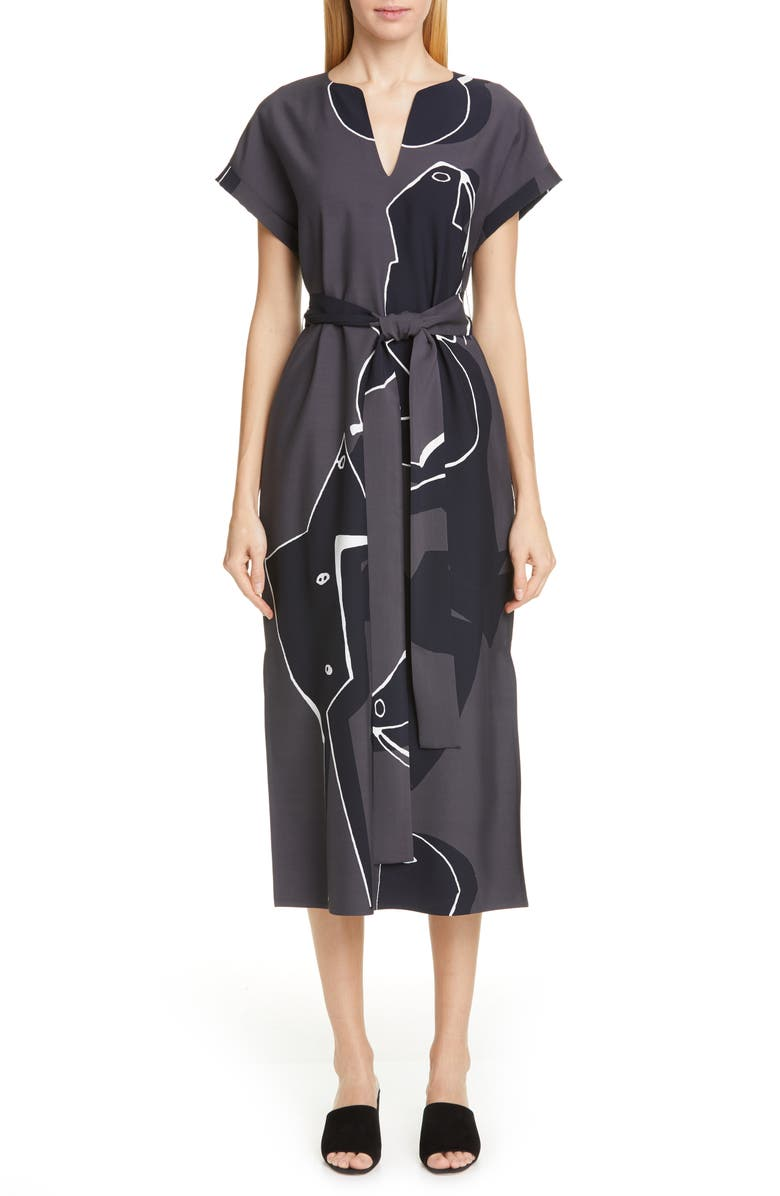 Lafayette 148 Dresses COSIMIA PRINT MIDI DRESS