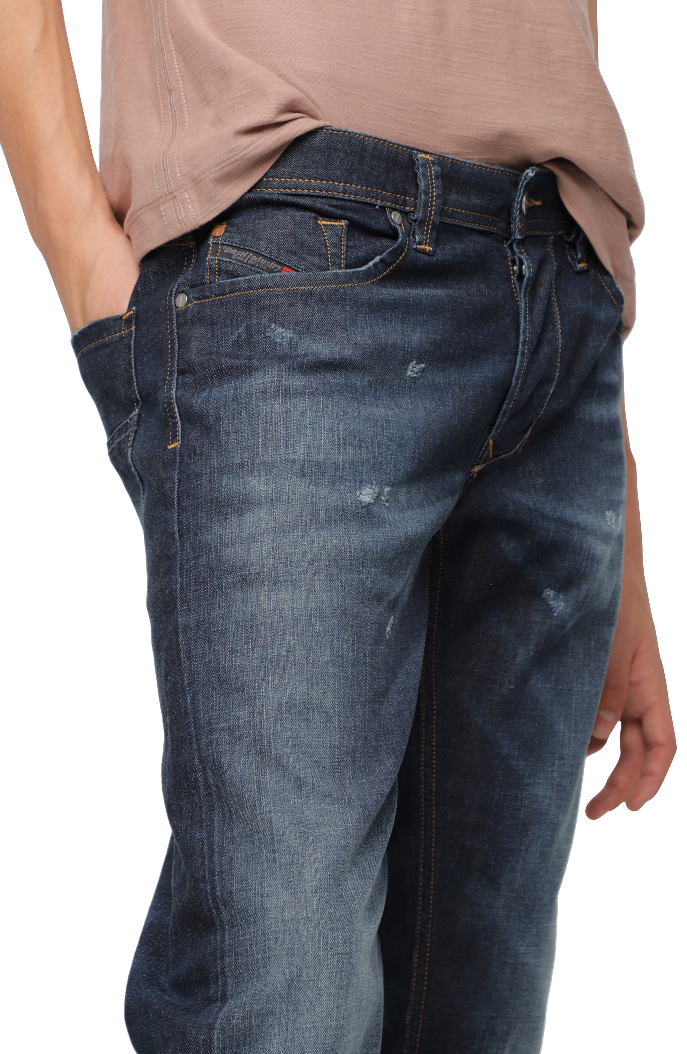 DIESEL<SUP>®</SUP>, Larkee Relaxed Fit Jeans, Alternate thumbnail 3, color, 400