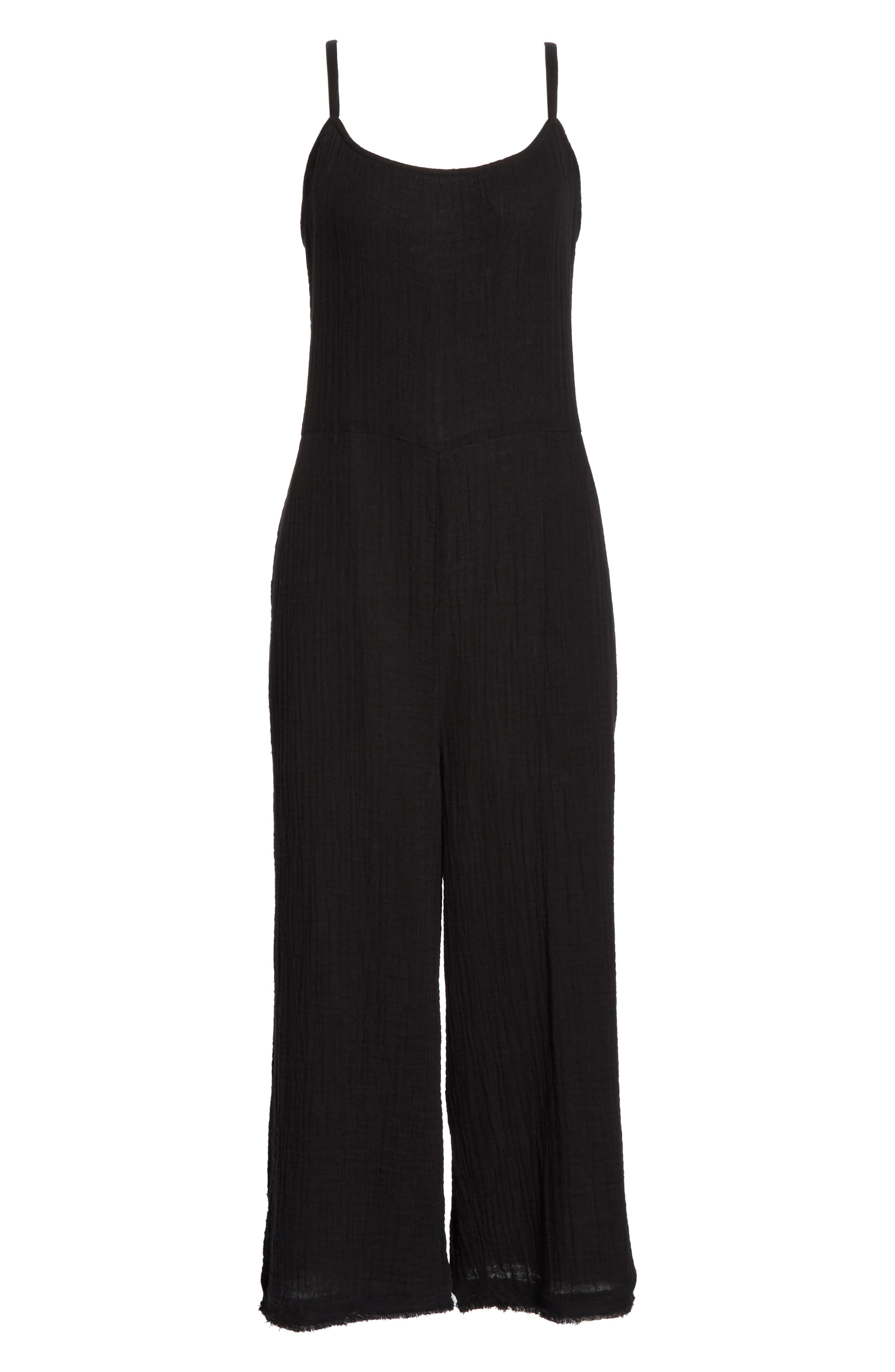 EILEEN FISHER, Camisole Jumpsuit, Alternate thumbnail 7, color, 001