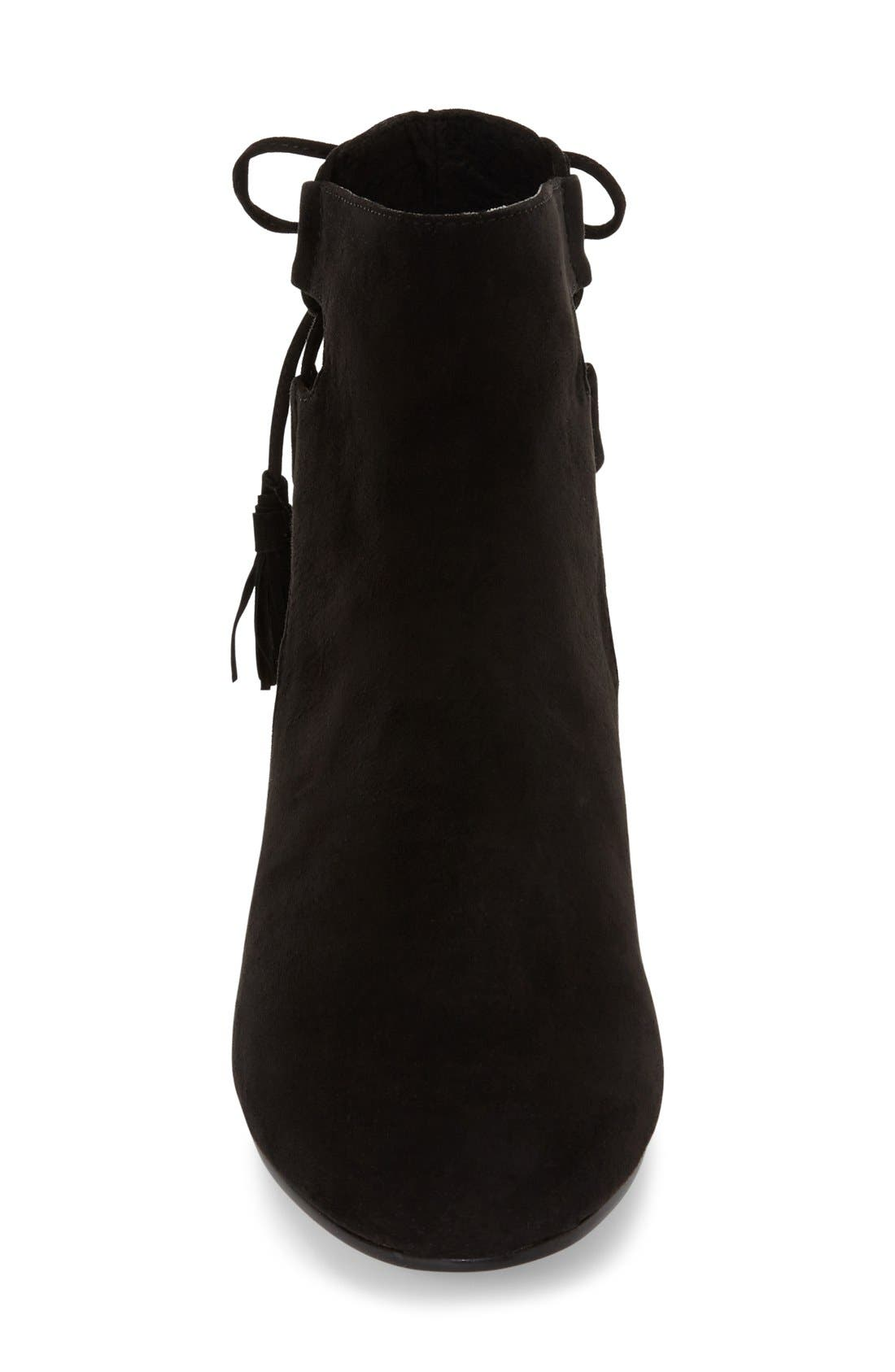 TOPSHOP, 'Kimble' Lace-Up Suede Boot, Alternate thumbnail 3, color, 001