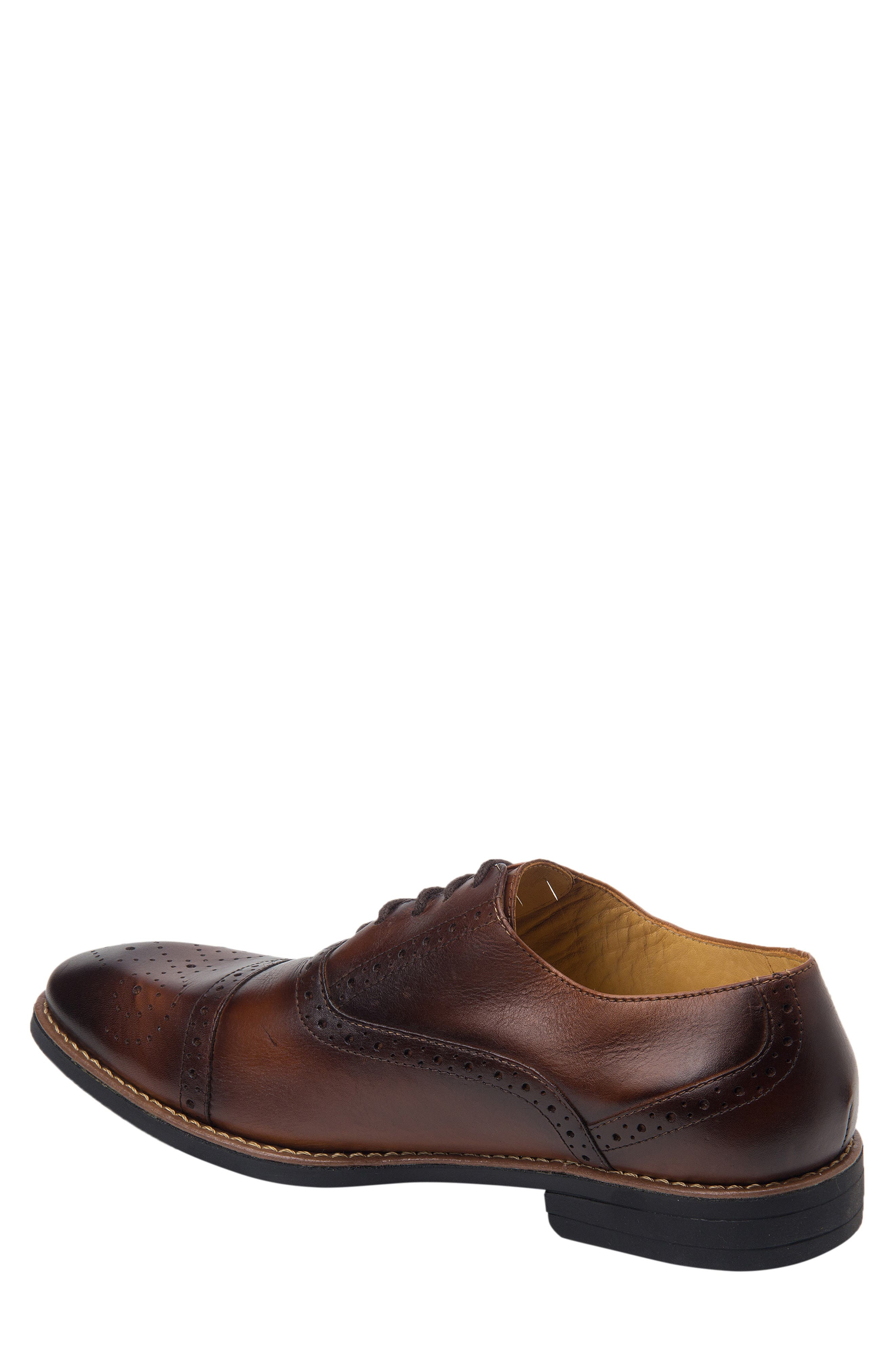 SANDRO MOSCOLONI, Murali Cap Toe Oxford, Alternate thumbnail 2, color, BROWN LEATHER