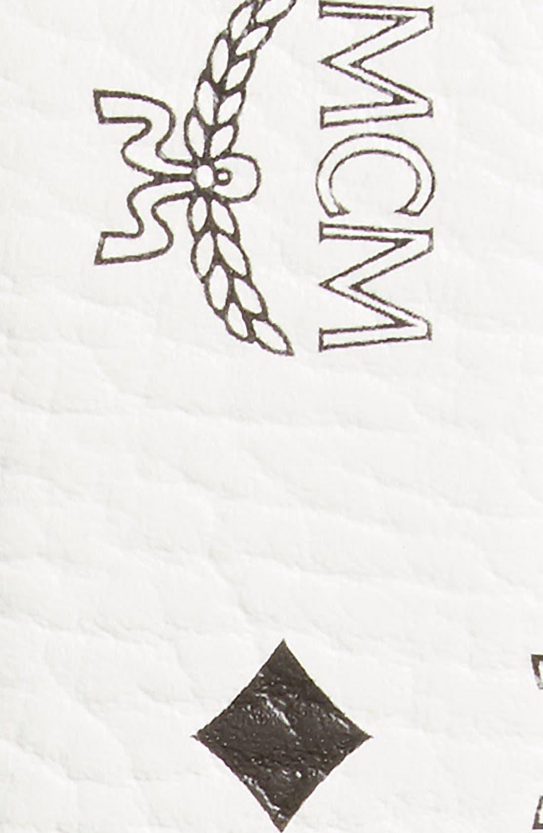 MCM, Cobalt Leather Belt, Alternate thumbnail 2, color, WHITE/ COGNAC
