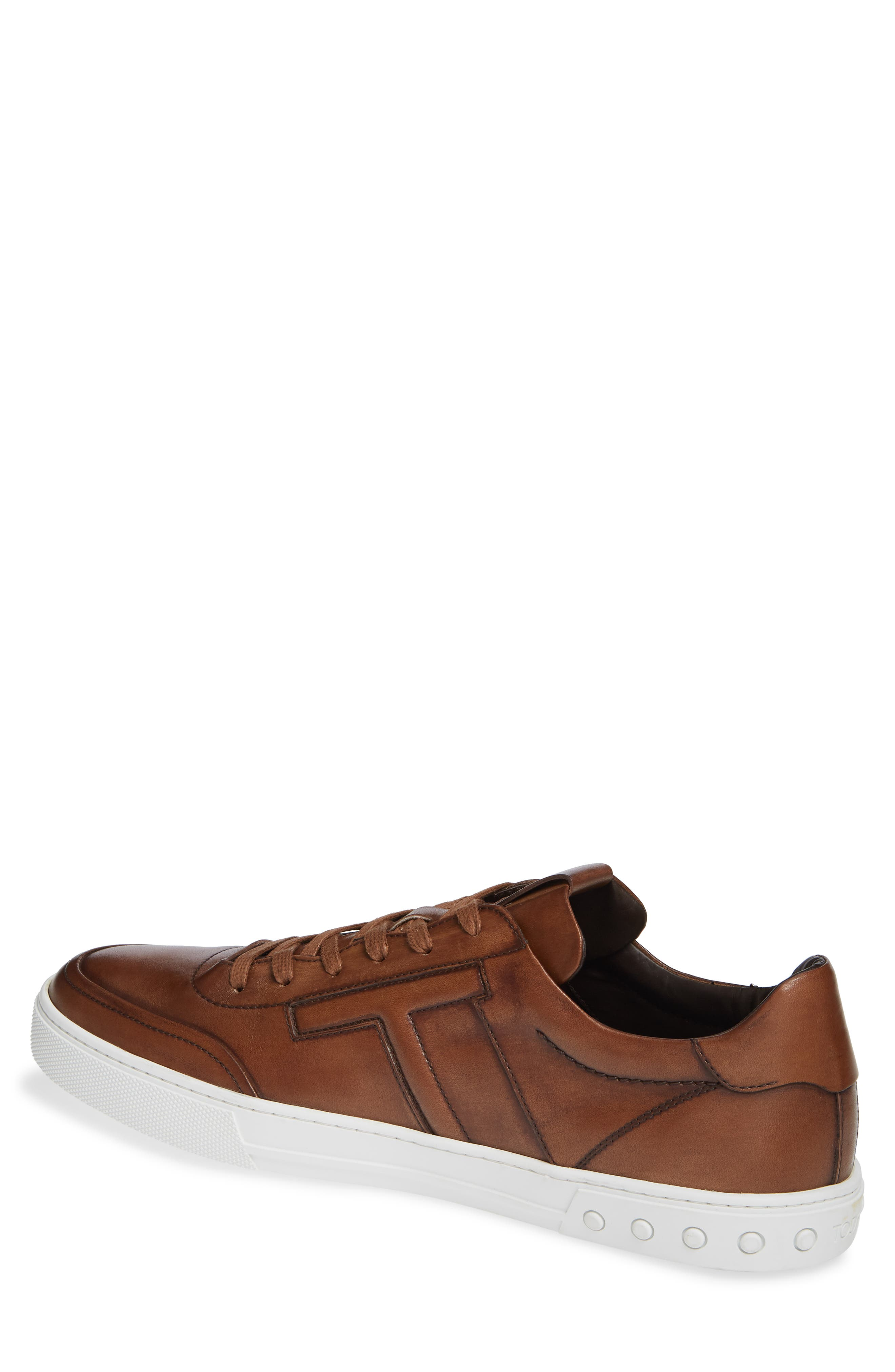 TOD'S, 'Cassetta' Sneaker, Alternate thumbnail 2, color, CARAMEL/ SPECIAL LEATHER