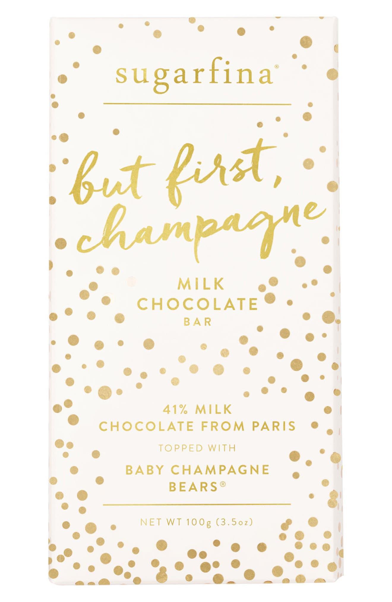 SUGARFINA, 2-Pack Milk Chocolate Champagne Bears Bars, Main thumbnail 1, color, 650