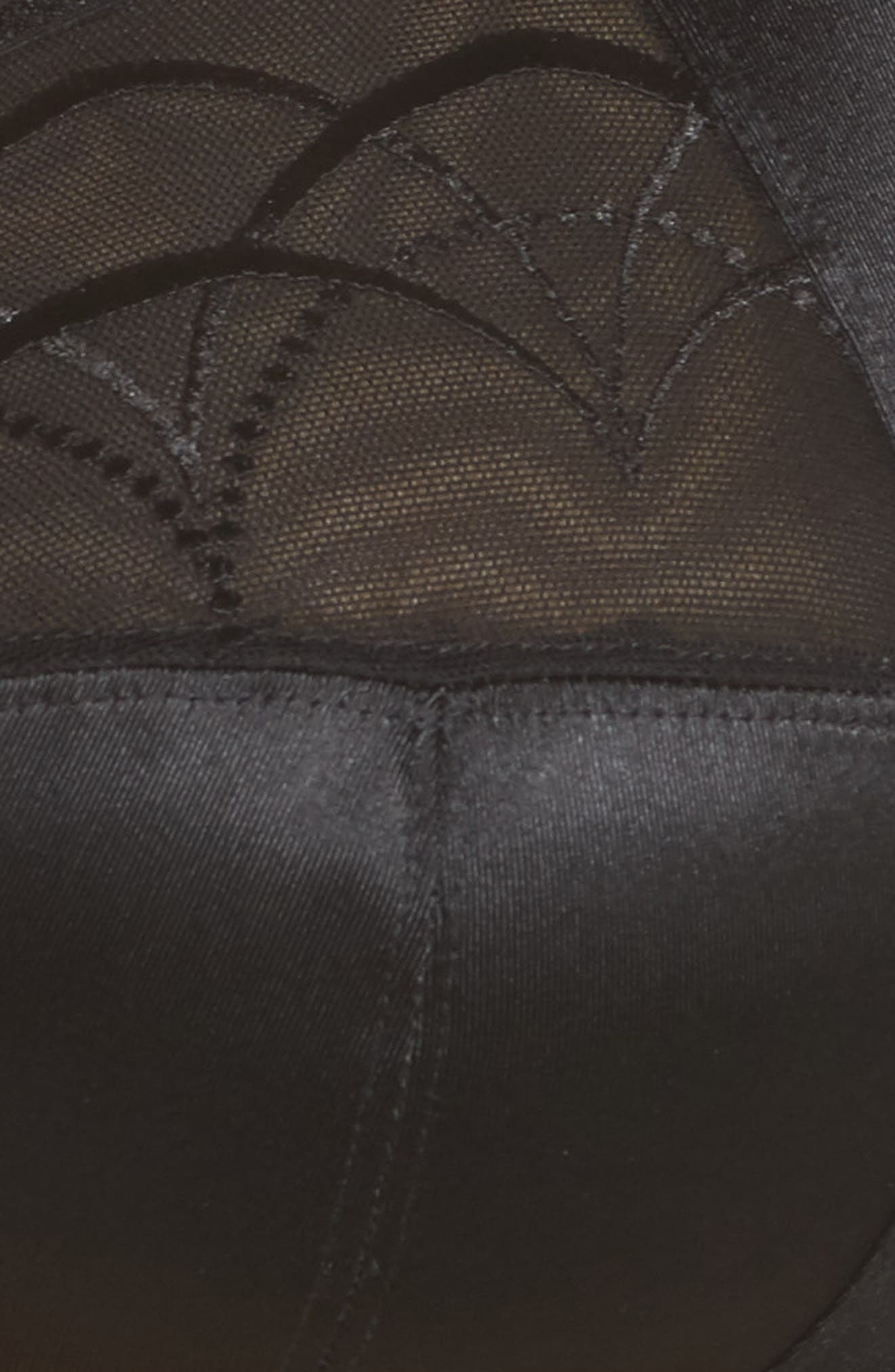 ELOMI, 'Cate' Soft Cup Bra, Alternate thumbnail 7, color, BLACK