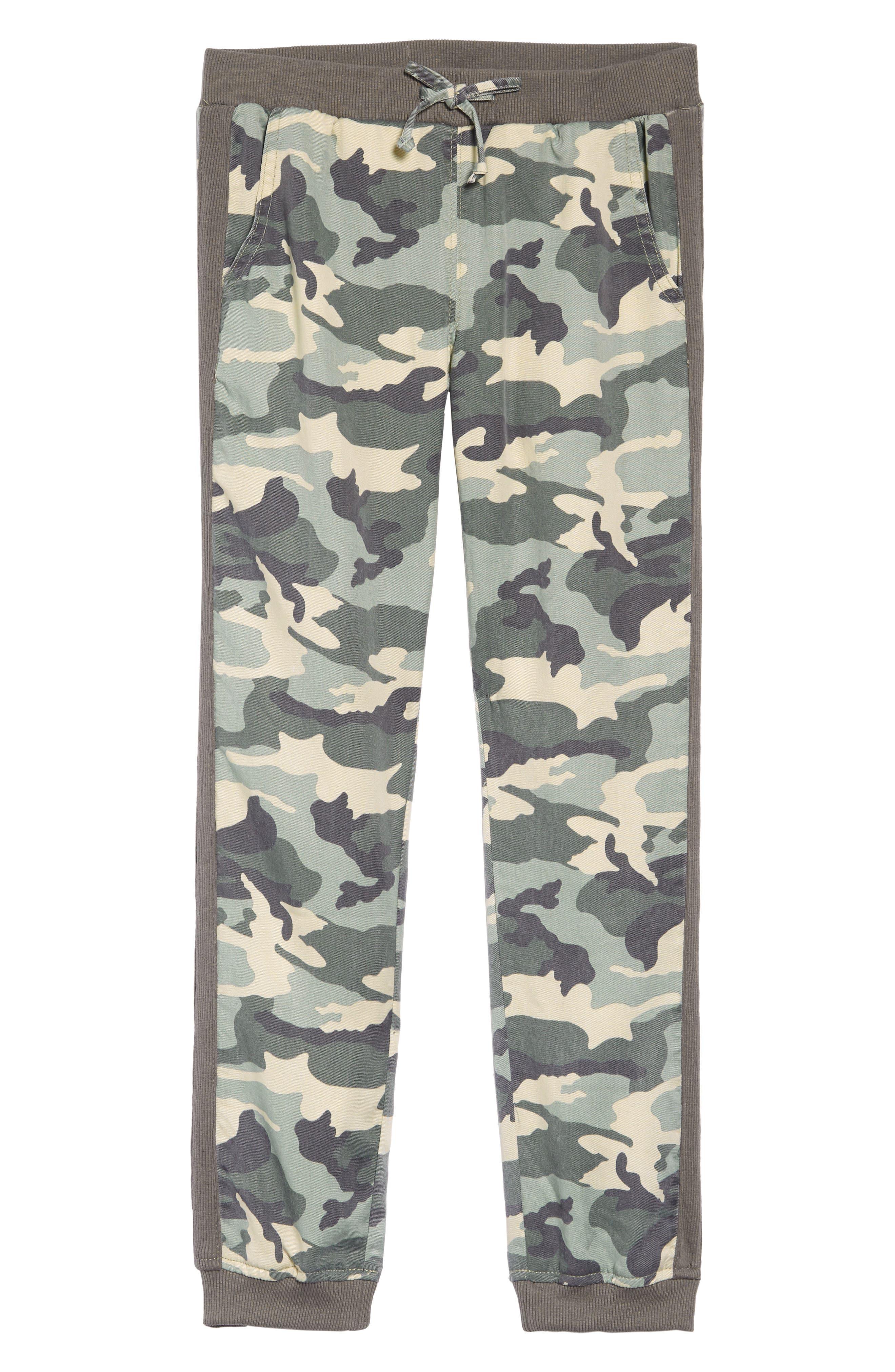 TRACTR Camo Print Jogger Pants, Main, color, GREEN CAMO
