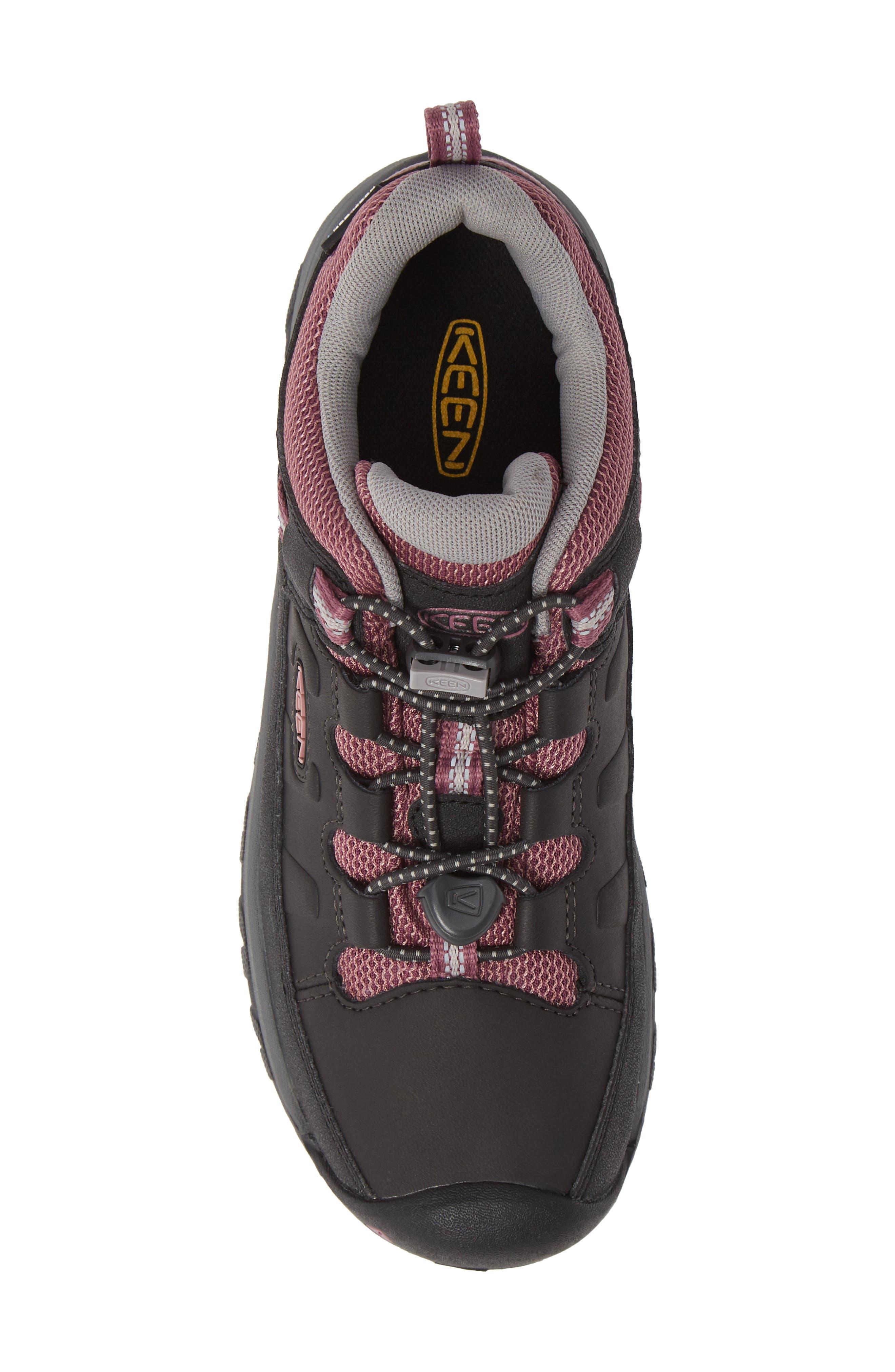 KEEN, Targhee Low Waterproof Boots, Alternate thumbnail 5, color, RAVEN/ TULIPWOOD/ TULIPWOOD