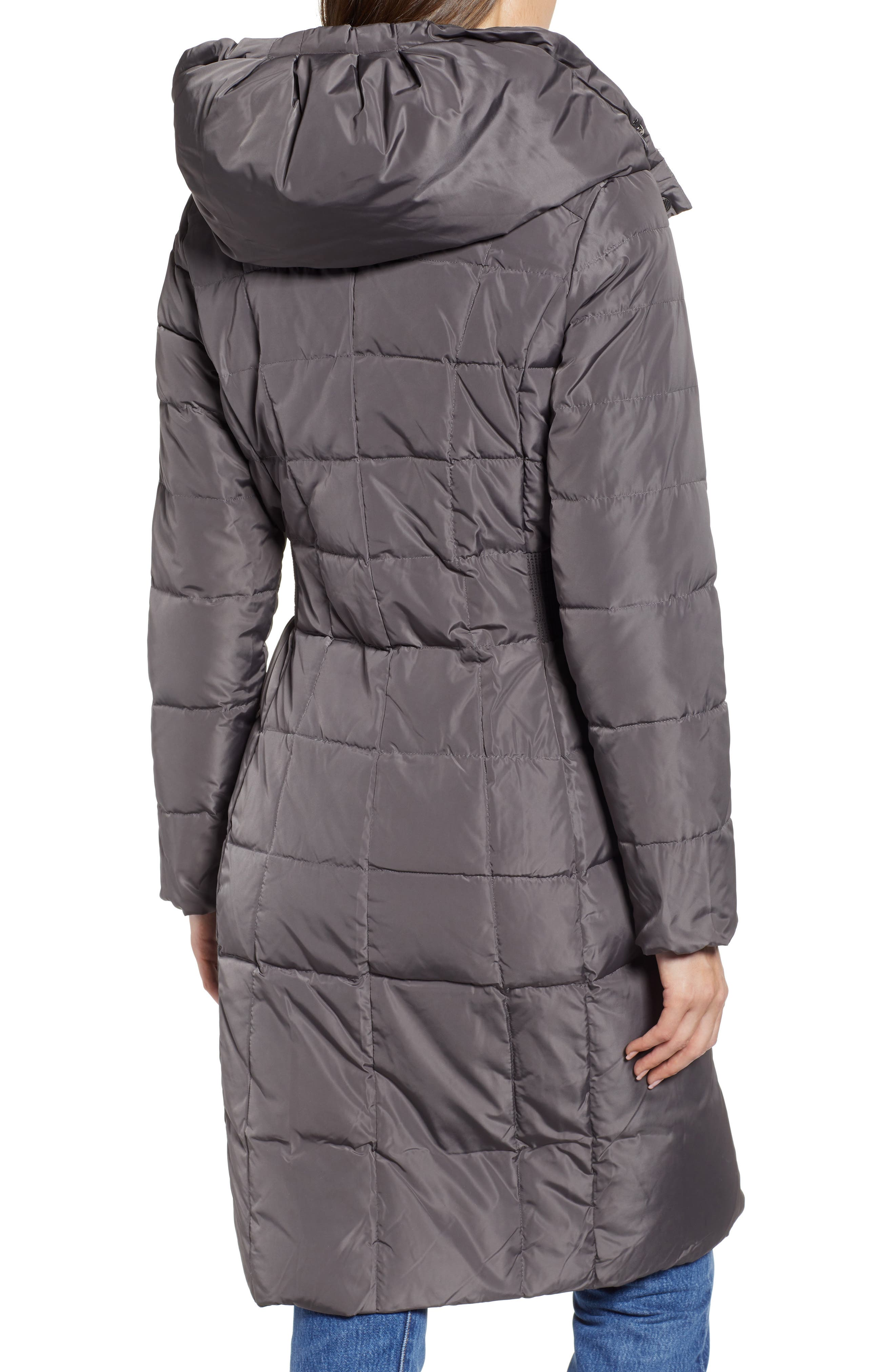 COLE HAAN SIGNATURE, Cole Haan Bib Insert Down & Feather Fill Coat, Alternate thumbnail 2, color, 024