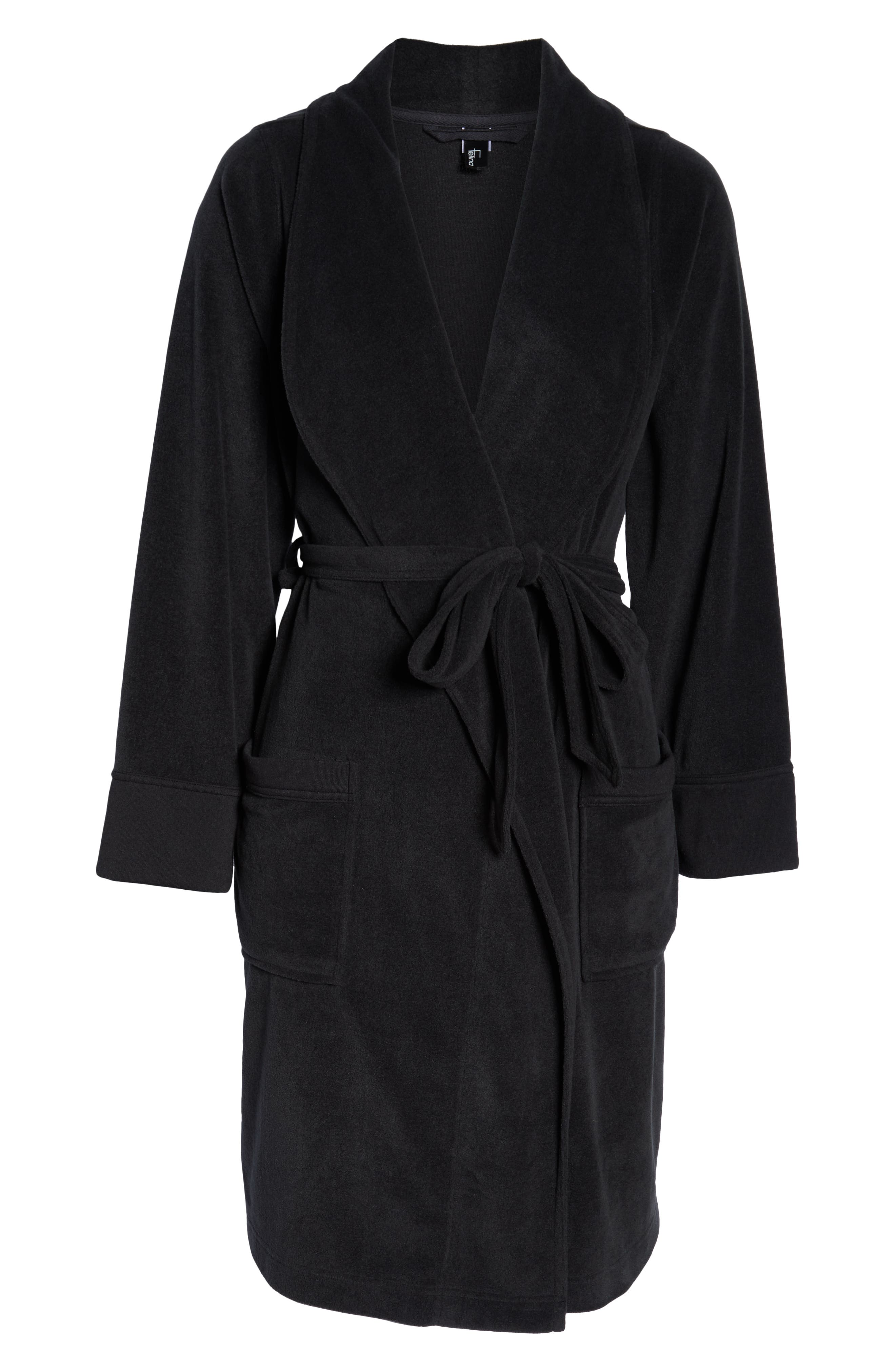 FELINA, Lourdes Robe, Alternate thumbnail 6, color, BLACK