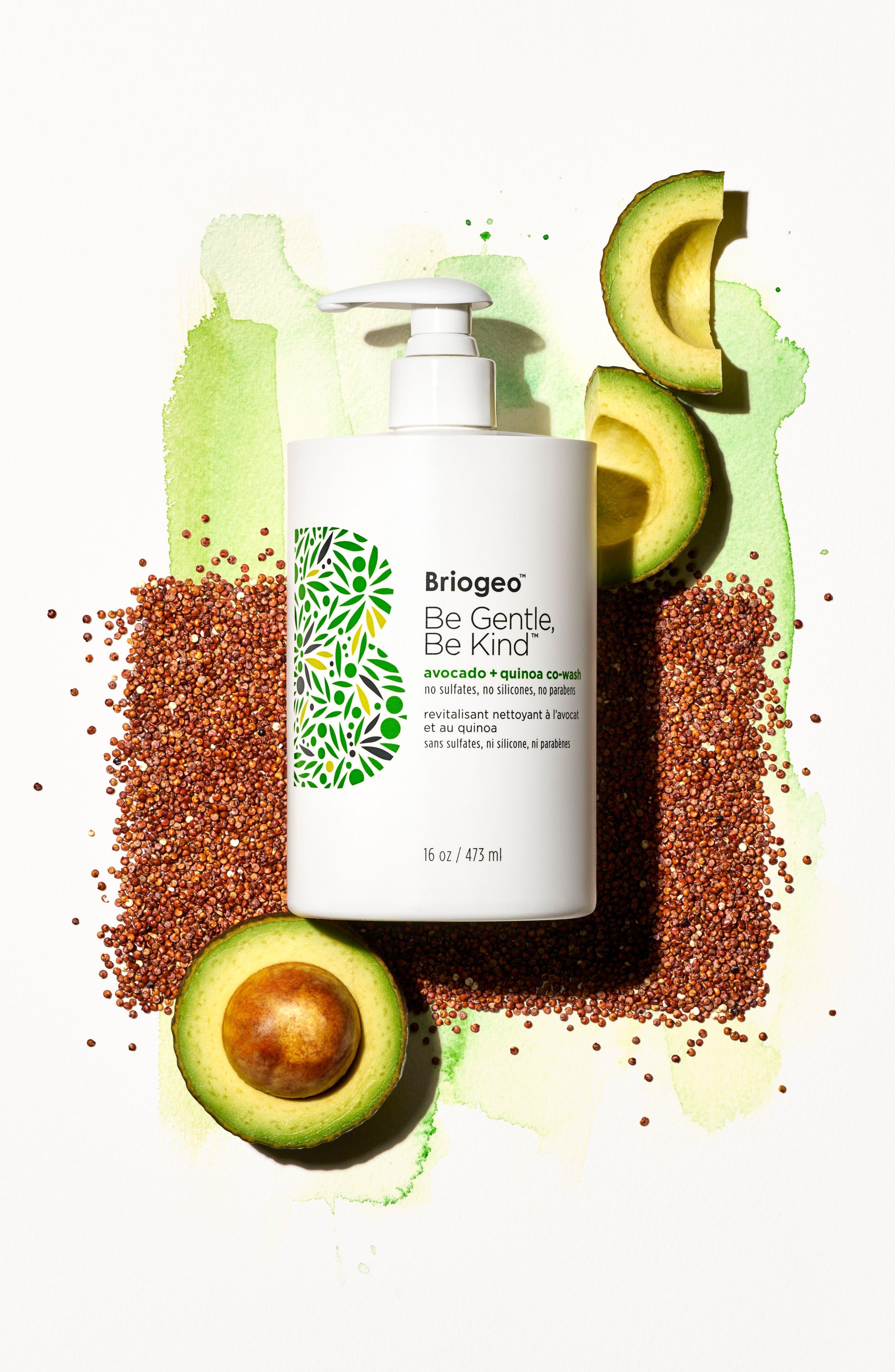 BRIOGEO, Be Gentle, Be Kind Avocado + Quinoa Co-Wash, Alternate thumbnail 4, color, NO COLOR