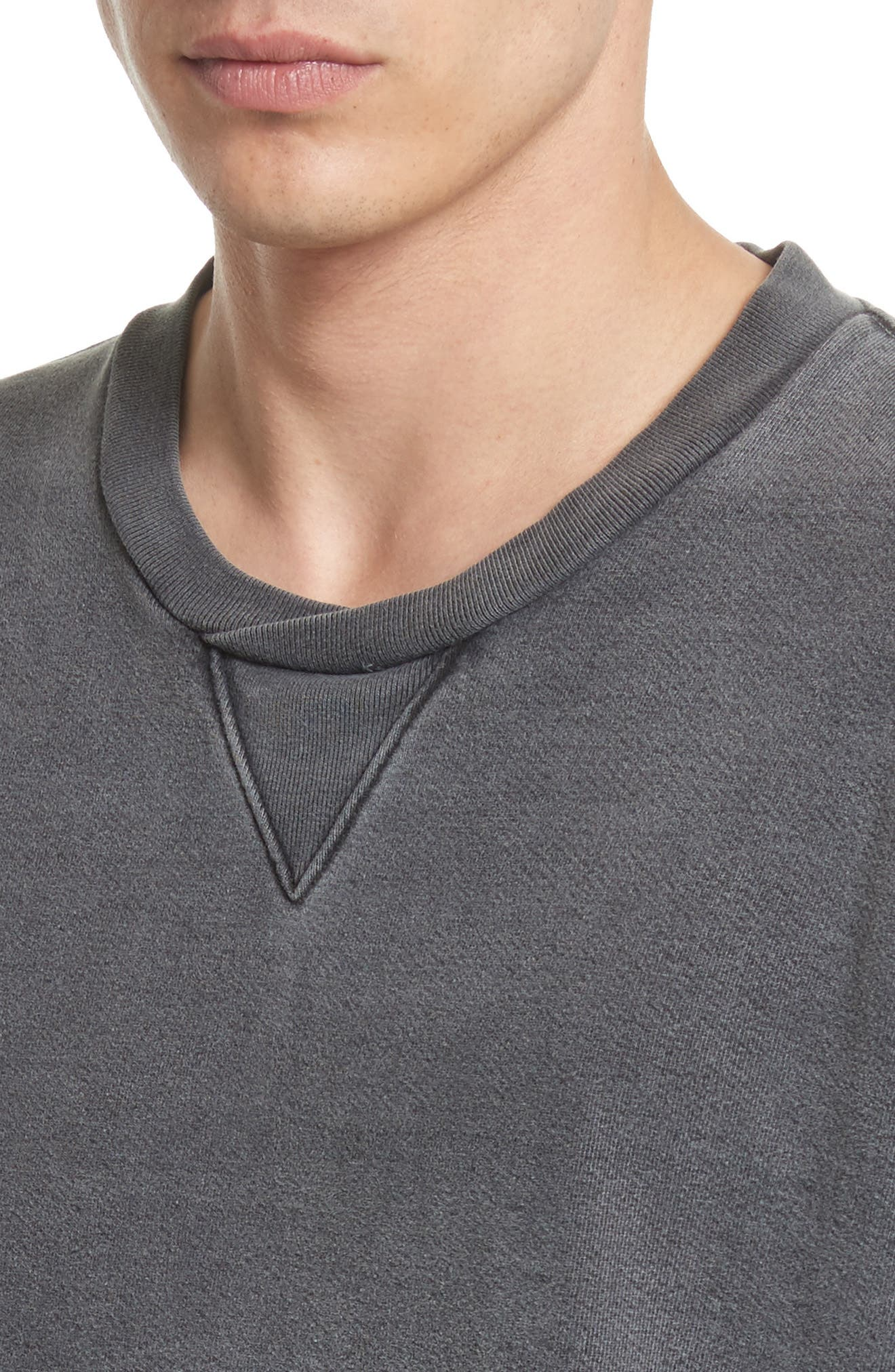 DRIFTER, Norton Sweatshirt, Alternate thumbnail 4, color, BLACK