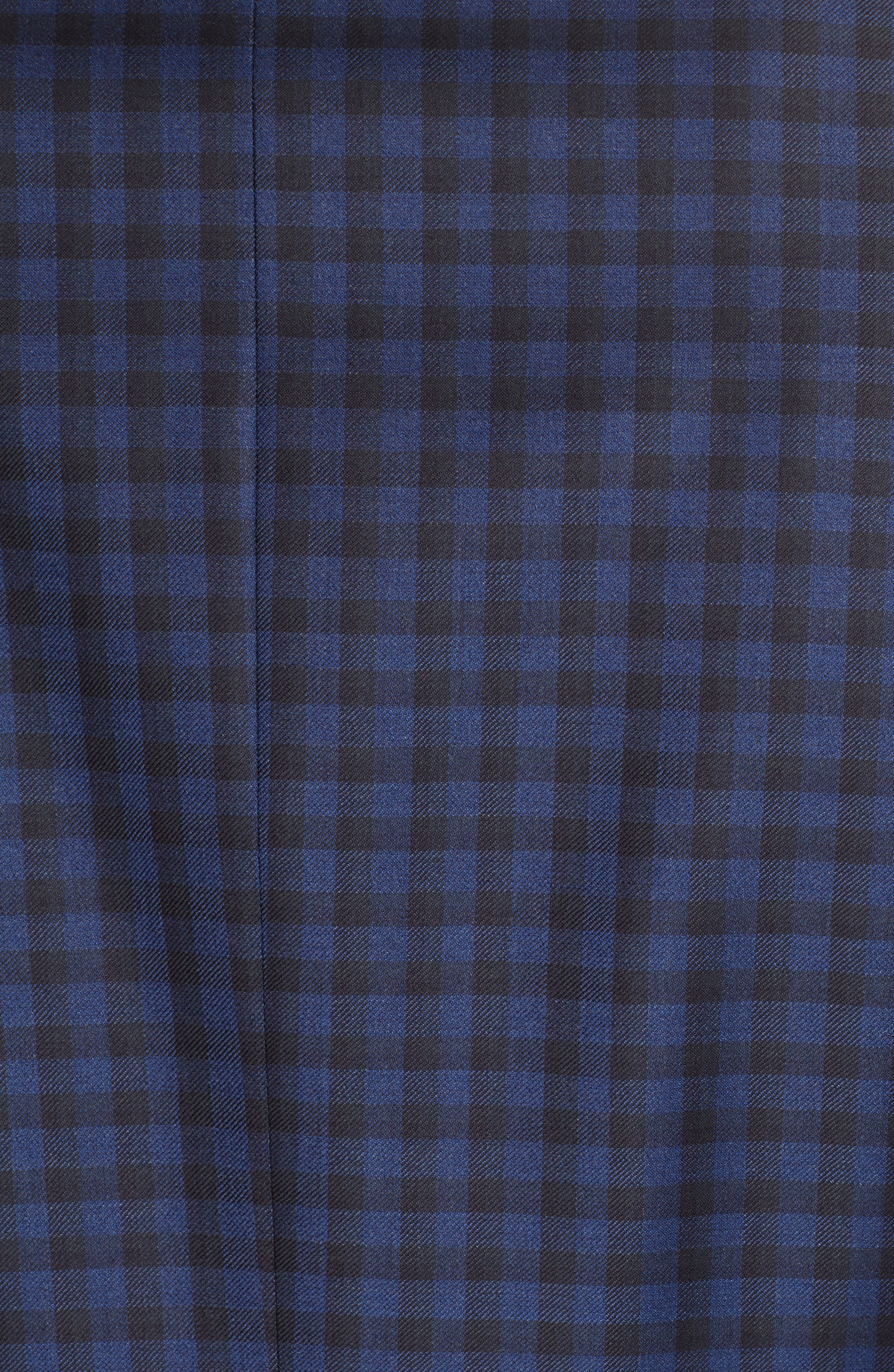 CANALI, Classic Fit Check Wool Sport Coat, Alternate thumbnail 6, color, BLUE