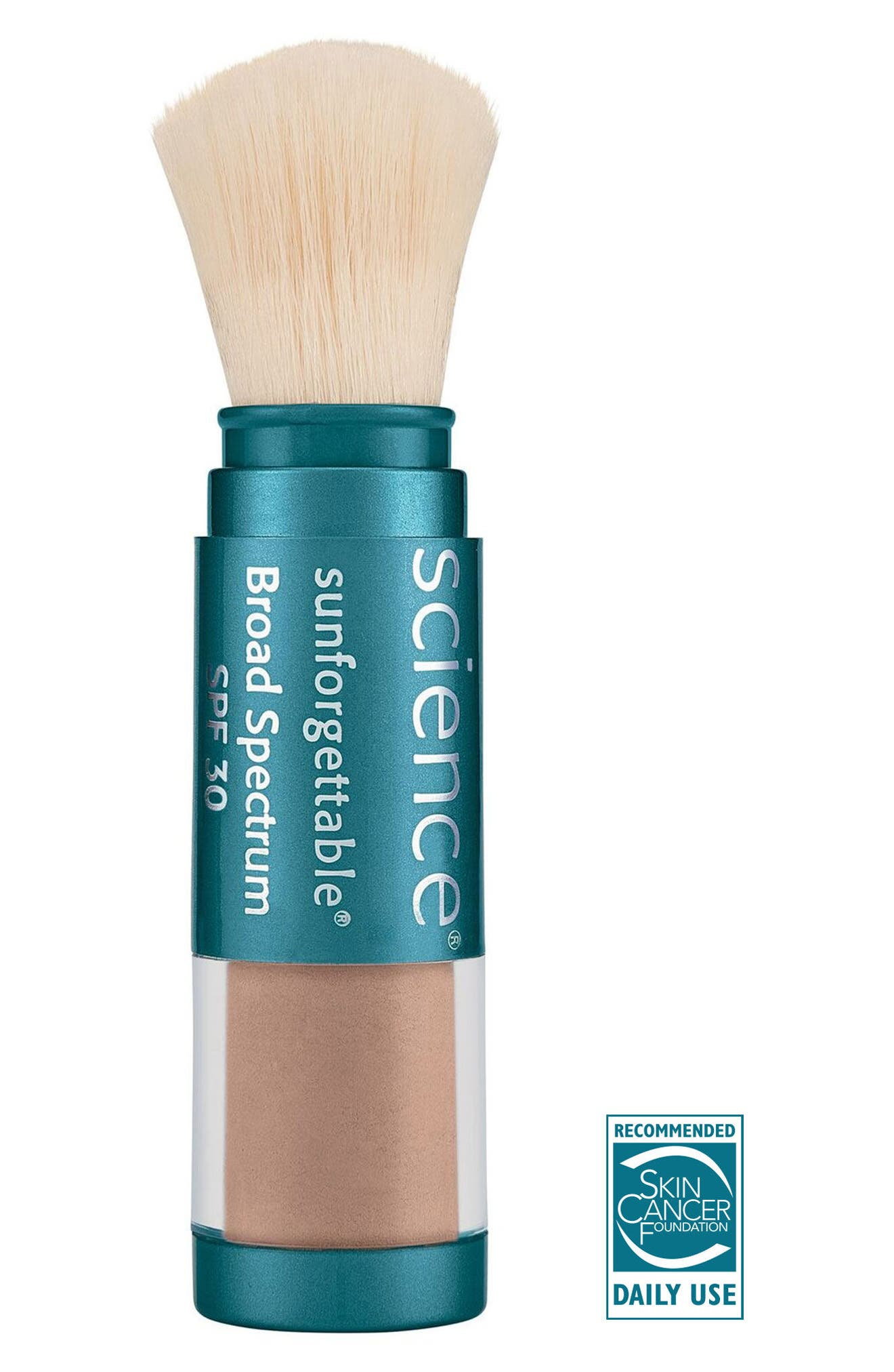 COLORESCIENCE  Sunforgettable<sup>®</sup> Brush-On Sunscreen SPF 30, Main, color, TAN