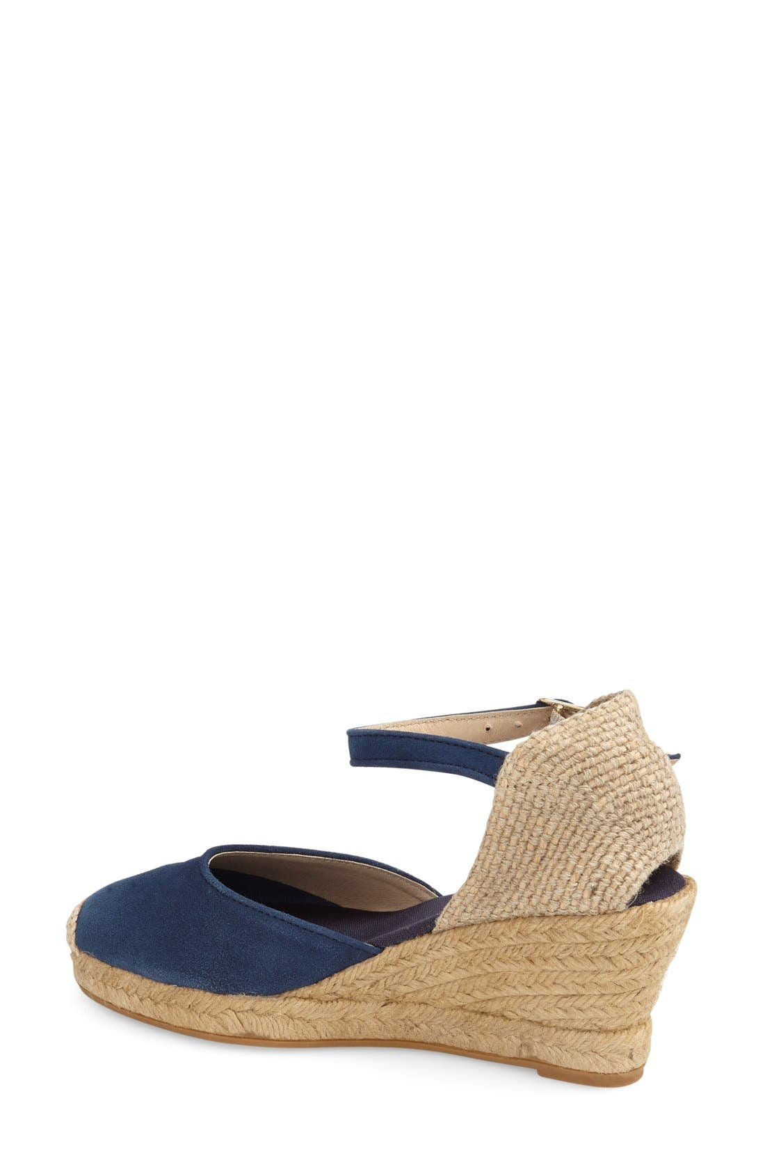 TONI PONS, 'Lloret-5' Espadrille Wedge Sandal, Alternate thumbnail 2, color, NAVY SUEDE