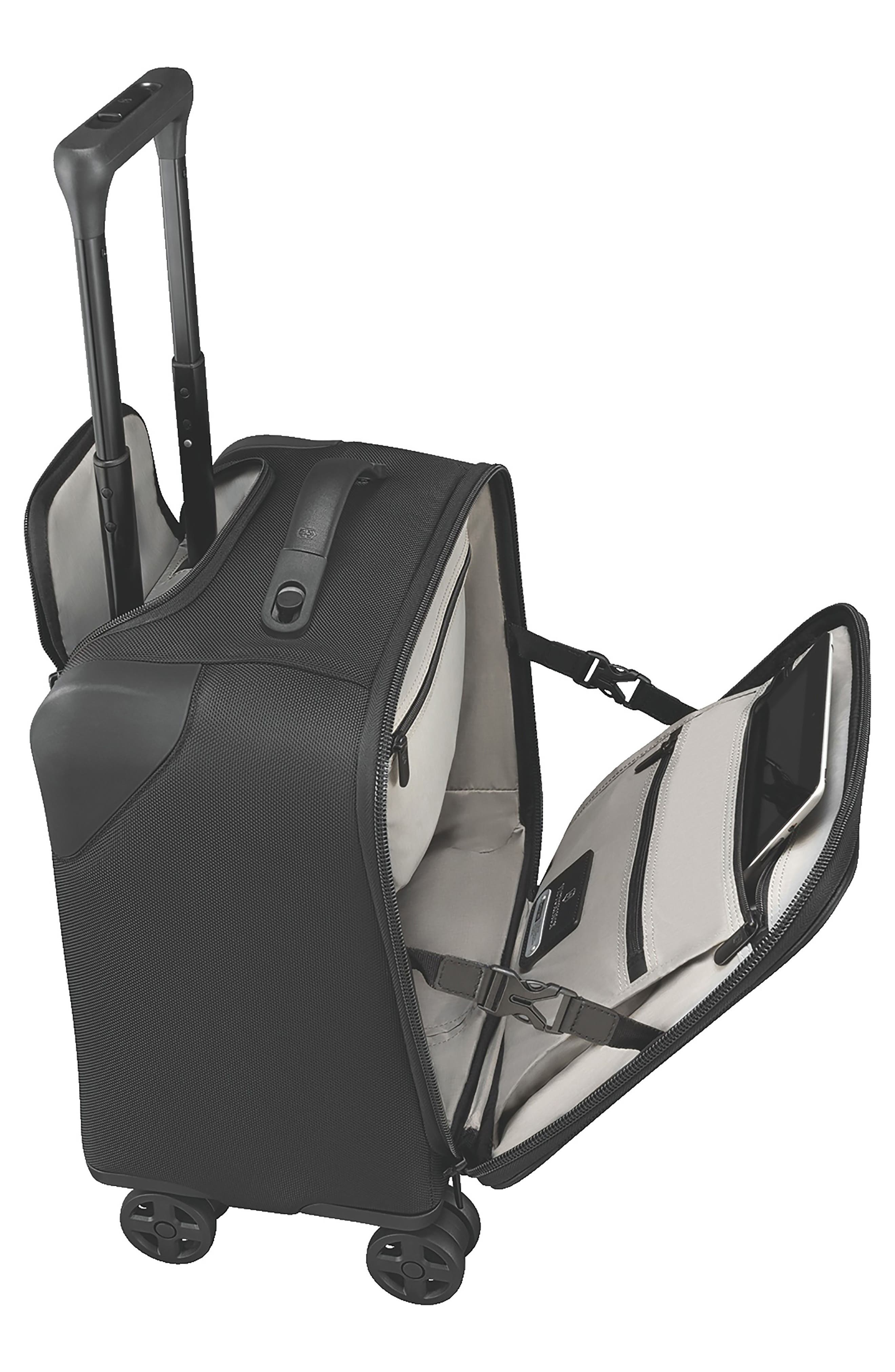 VICTORINOX SWISS ARMY<SUP>®</SUP>, Lexicon 2.0 Dual Caster Wheeled Boarding Tote, Alternate thumbnail 3, color, BLACK