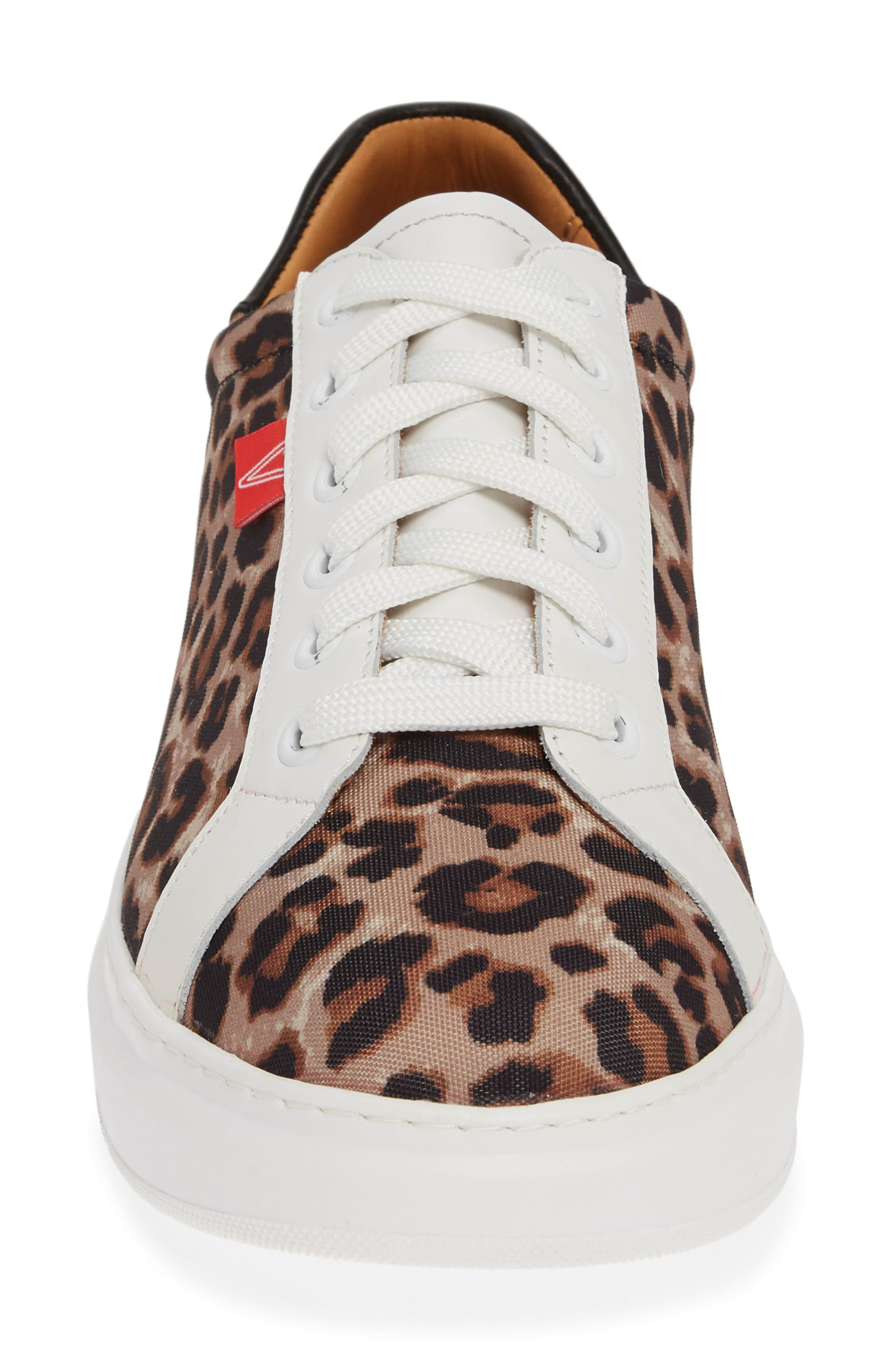 VERONICA BEARD, Daelyn Leopard Print Sneaker, Alternate thumbnail 4, color, LEOPARD