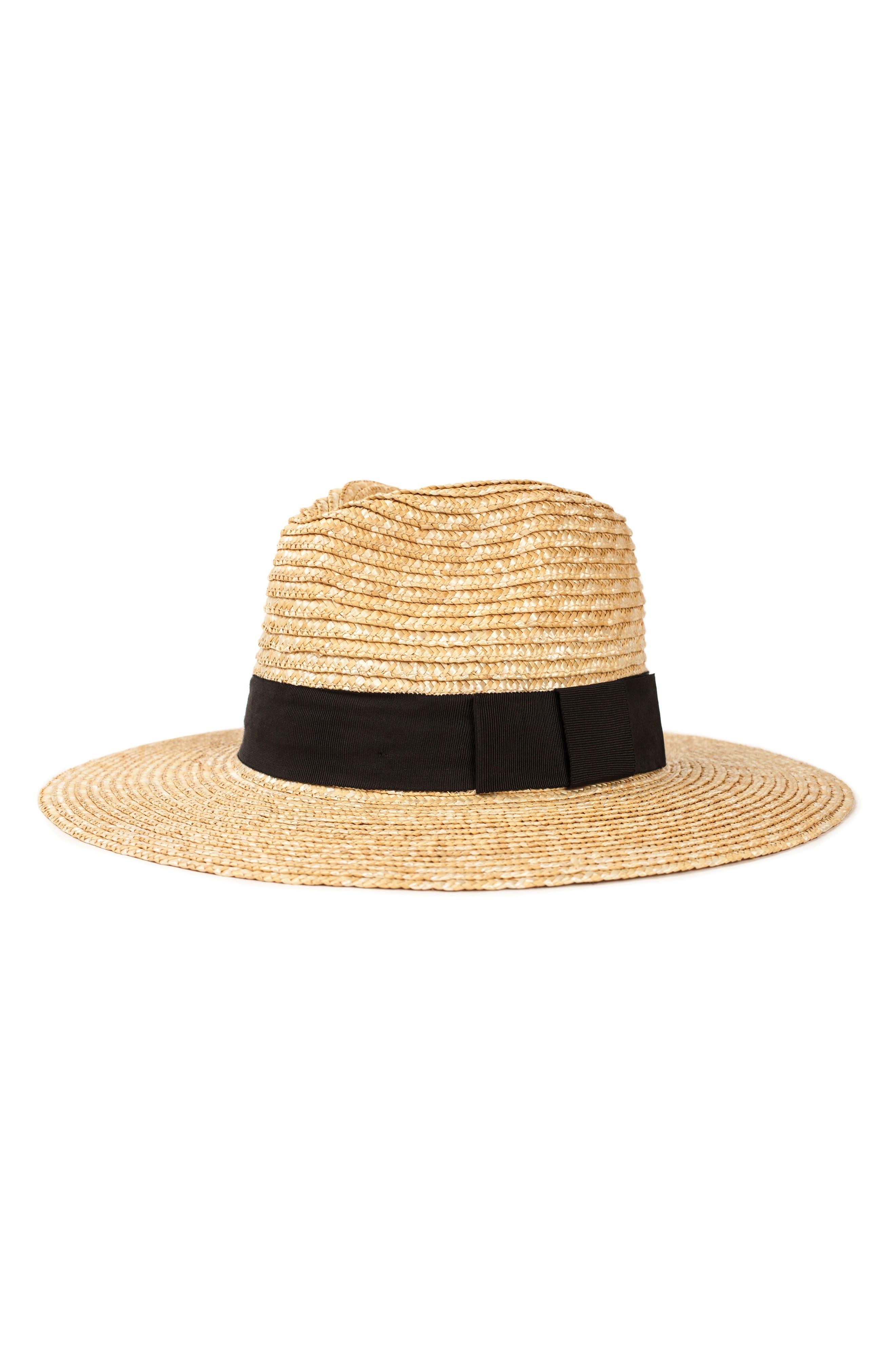BRIXTON, 'Joanna' Straw Hat, Main thumbnail 1, color, HONEY