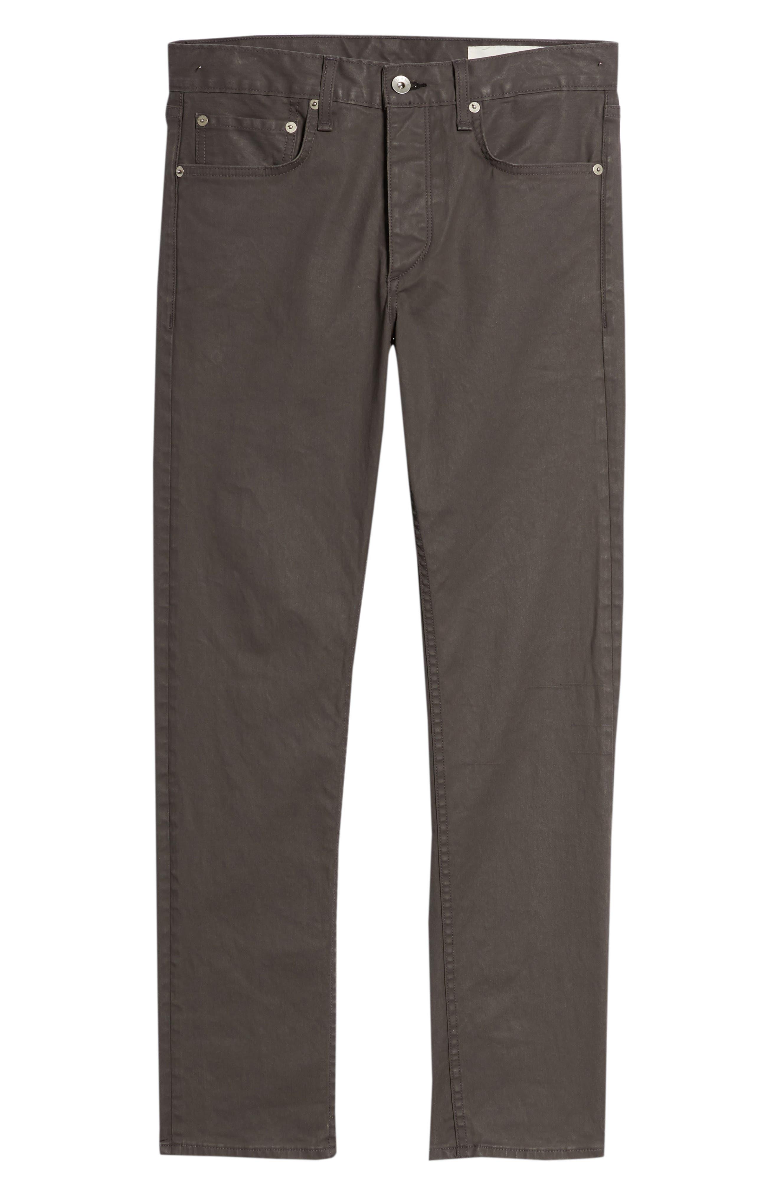 RAG & BONE, Fit 2 Slim Fit Pants, Alternate thumbnail 6, color, 020