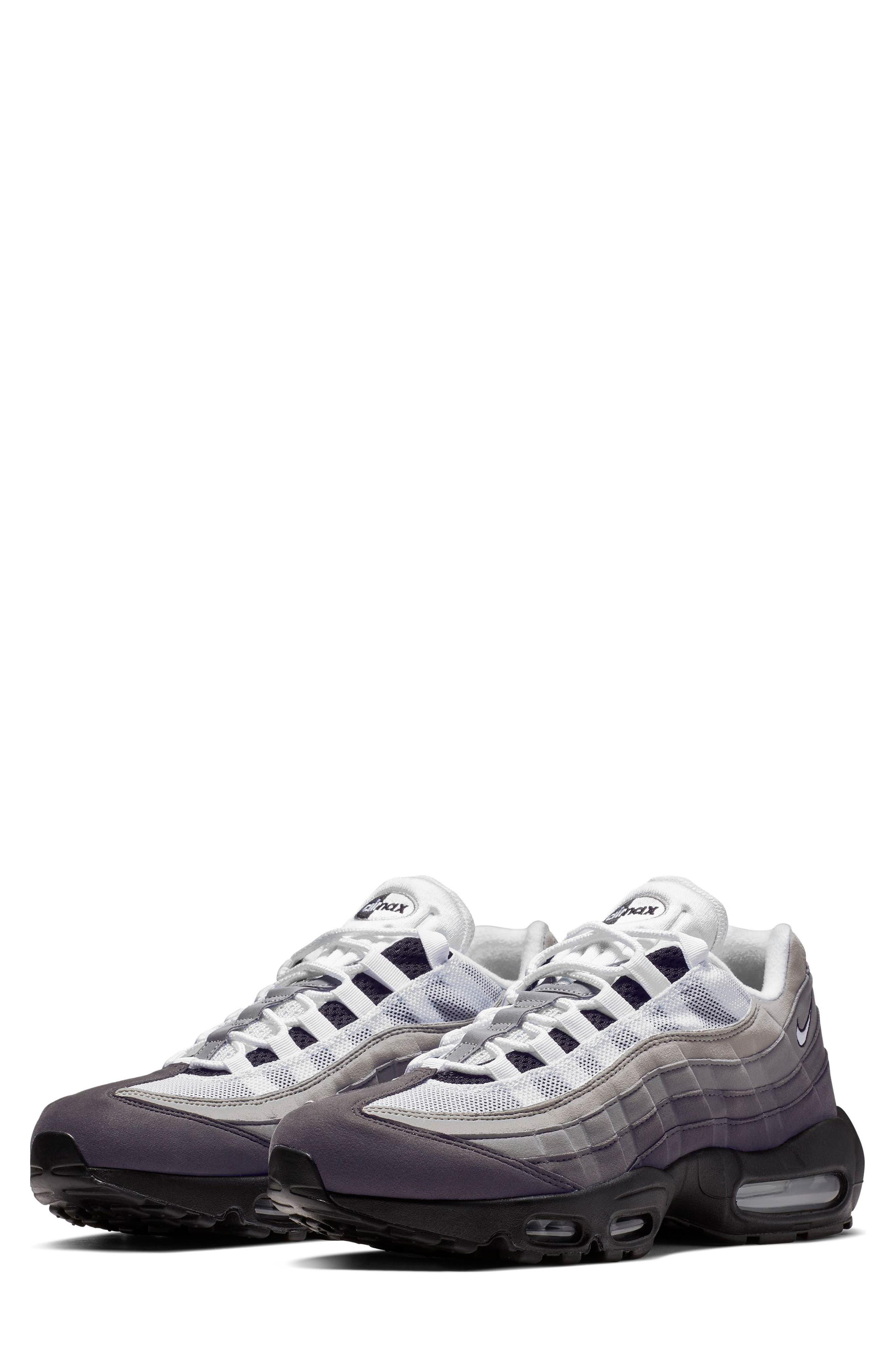 NIKE, Air Max 95 OG Sneaker, Main thumbnail 1, color, BLACK/ WHITE/ GRANITE/ DUST