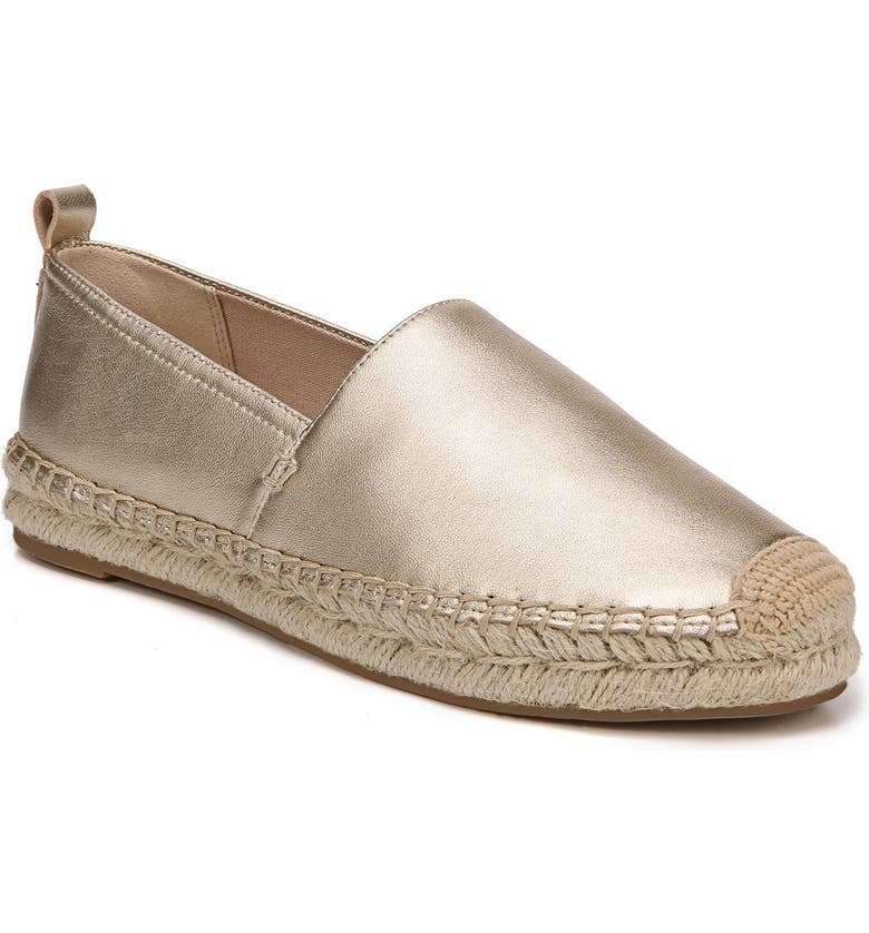 SAM EDELMAN Khloe Espadrille Flat, Main, color, MOLTEN GOLD LEATHER
