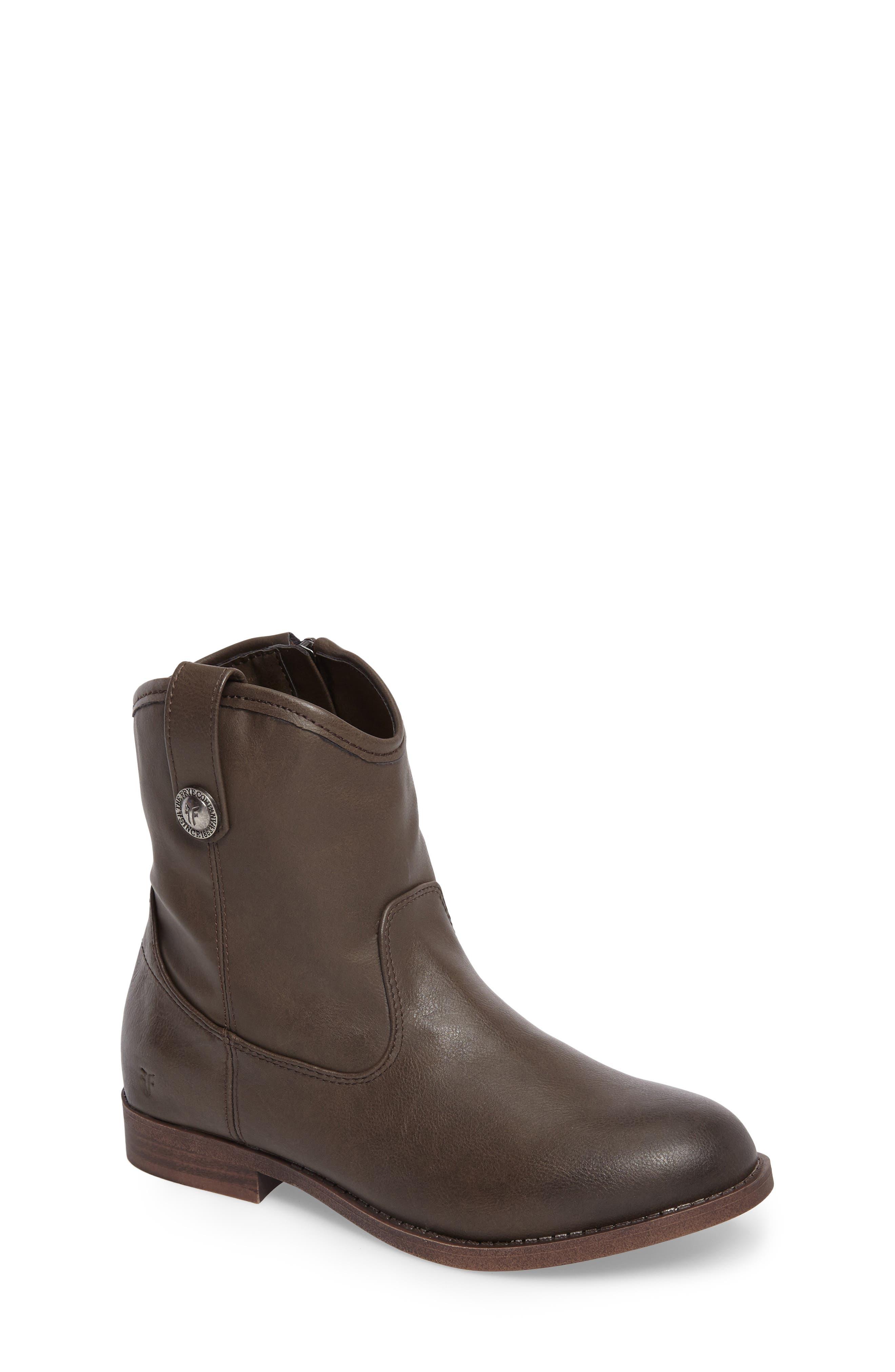 Girls Frye Melissa Button Boot Size 5 M  Grey