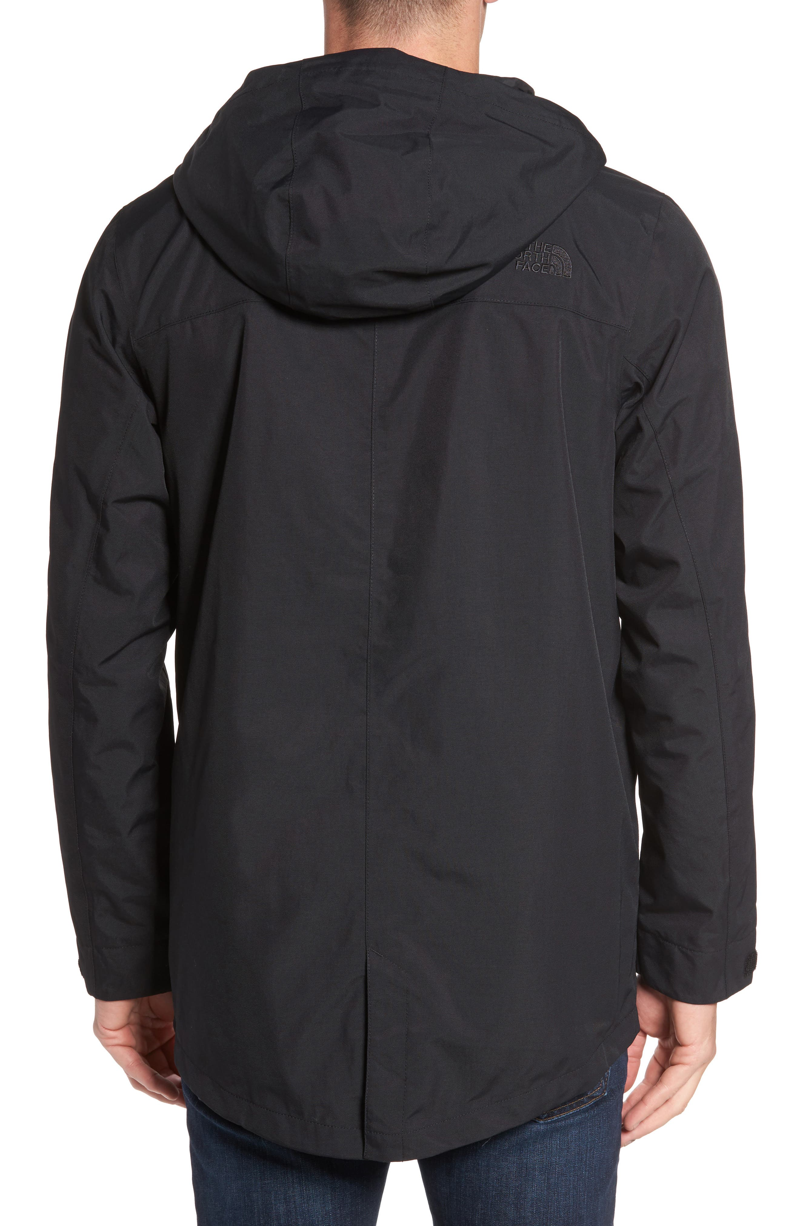 THE NORTH FACE, El Misti Trench II Hooded Jacket, Alternate thumbnail 2, color, 001