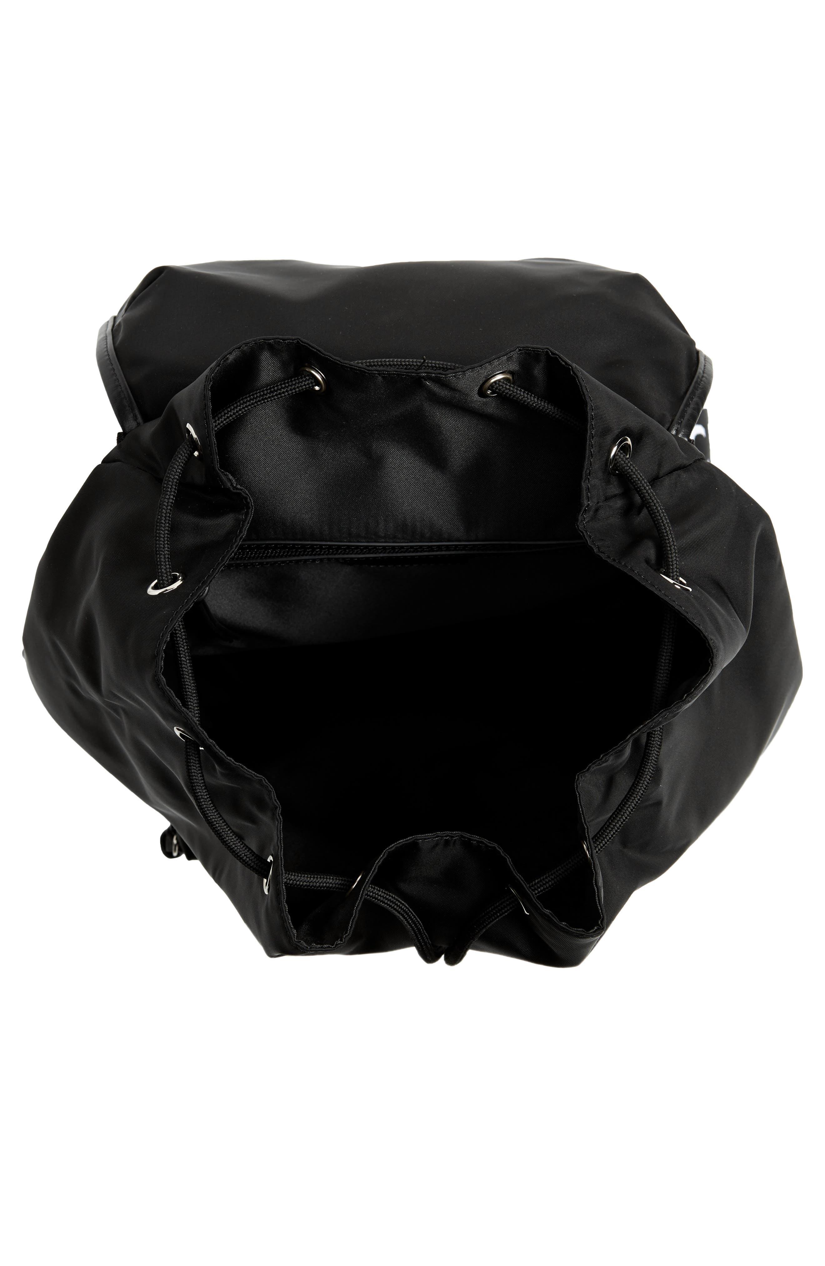 GIVENCHY, Light 3 Backpack, Alternate thumbnail 4, color, BLACK/ WHITE