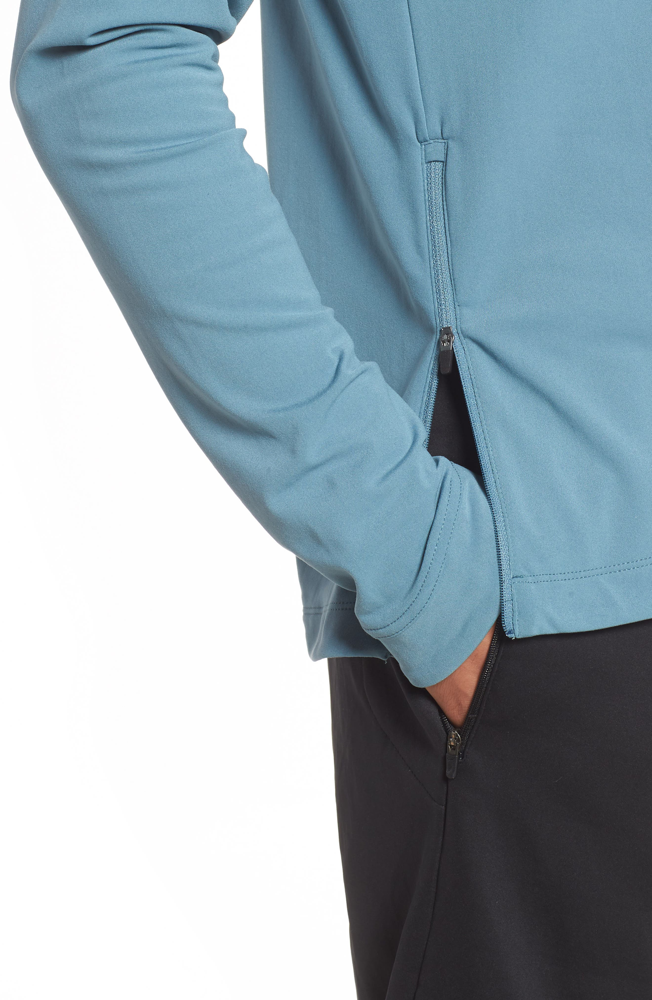 NIKE, Thermal Crewneck, Alternate thumbnail 4, color, CELESTIAL TEAL