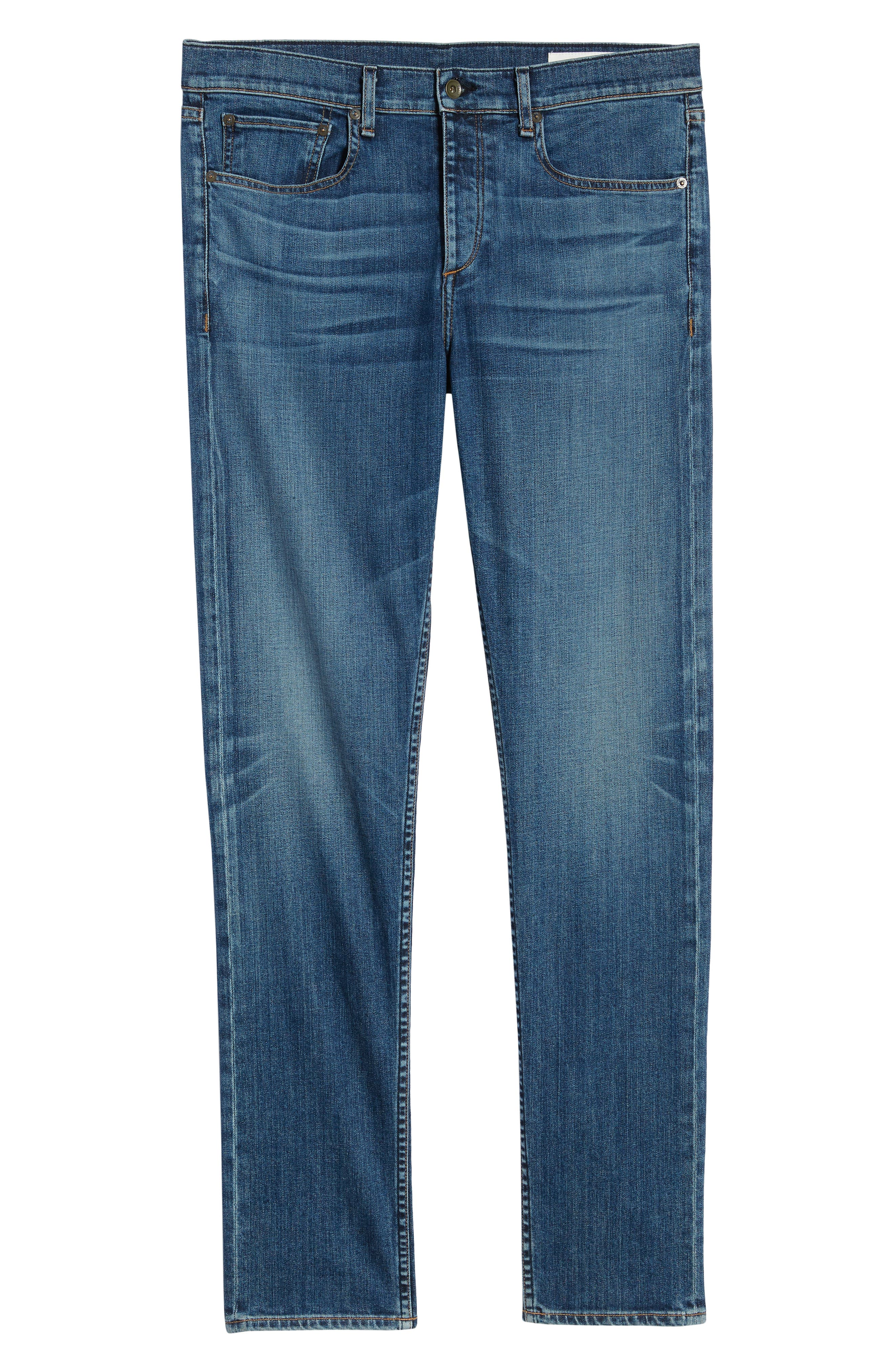 RAG & BONE, Fit 2 Slim Fit Jeans, Alternate thumbnail 7, color, THROOP