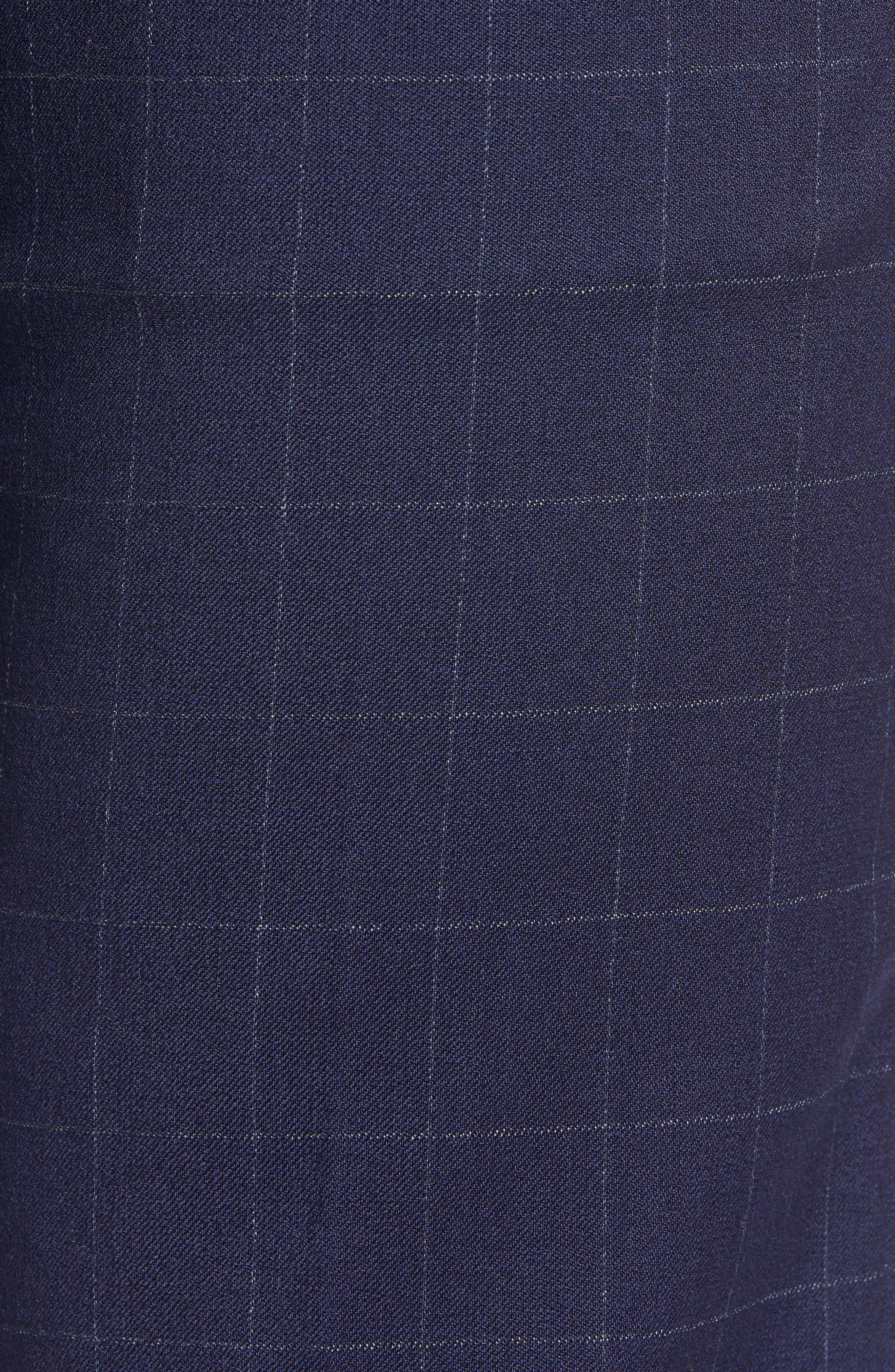 BONOBOS, Jetsetter Slim Fit Stretch Suit Pants, Alternate thumbnail 5, color, NAVY CHALK WINDOWPANE