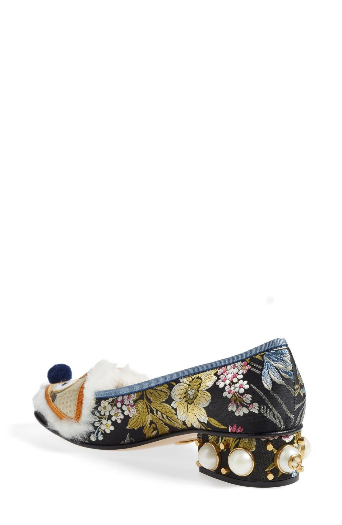 GUCCI, 'Kimberly' Embellished Pump, Alternate thumbnail 2, color, 020