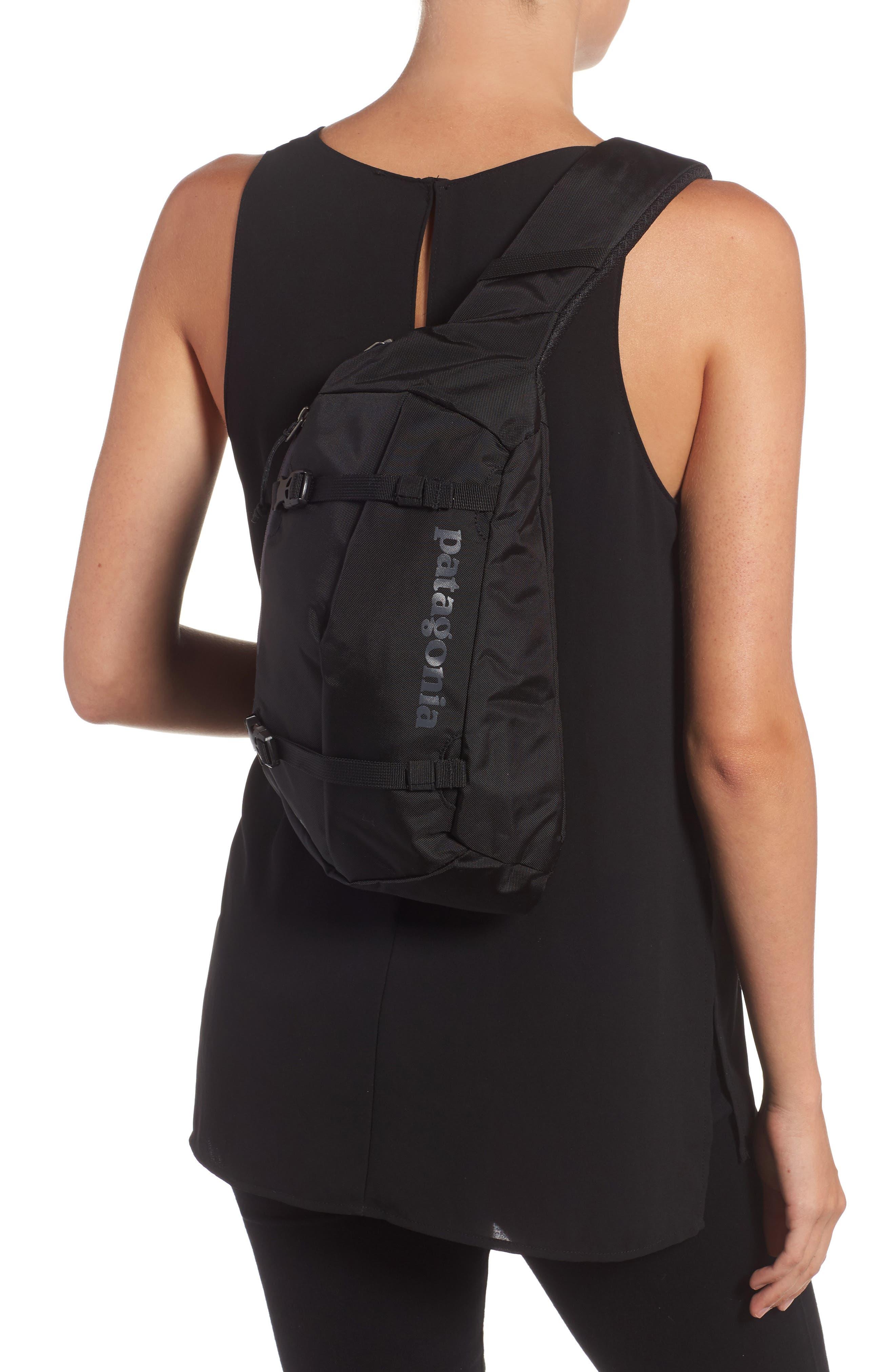 PATAGONIA, Atom 8L Sling Backpack, Alternate thumbnail 2, color, BLACK