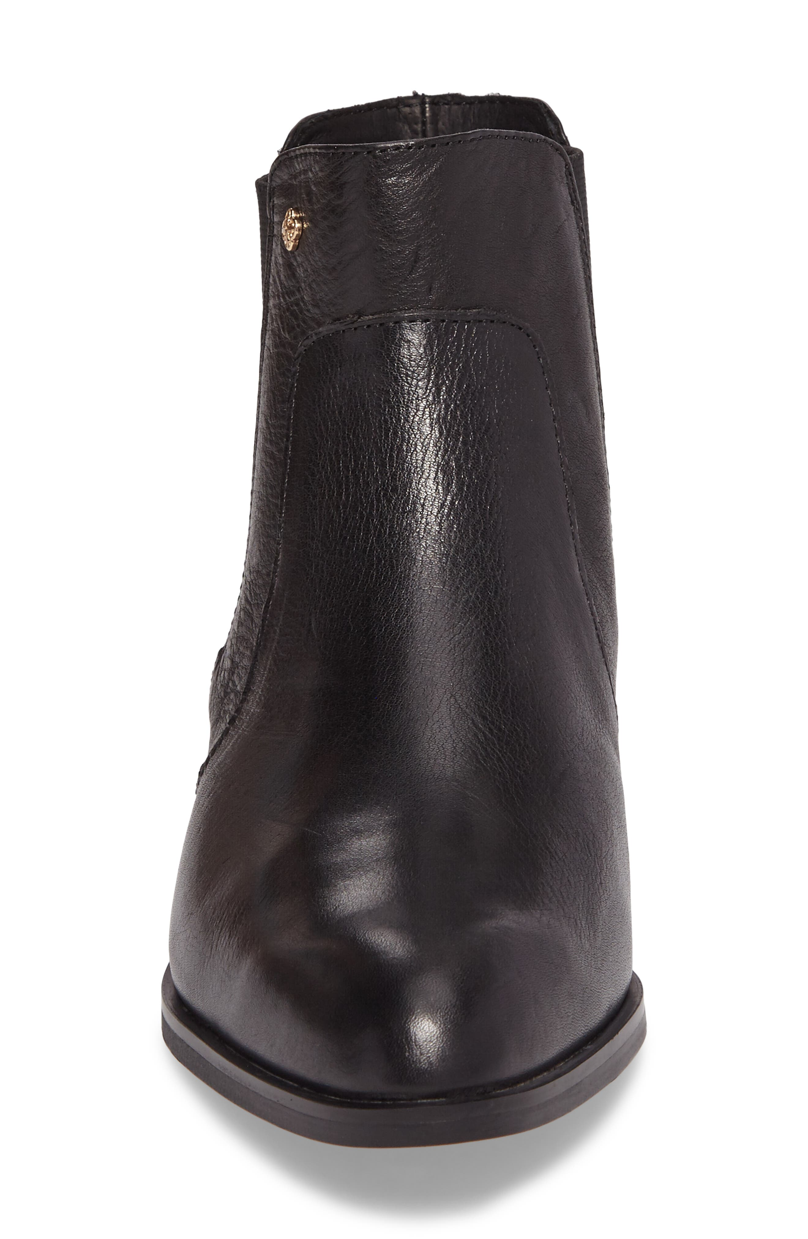 ISOLÁ, Mora Bootie, Alternate thumbnail 4, color, BLACK LEATHER
