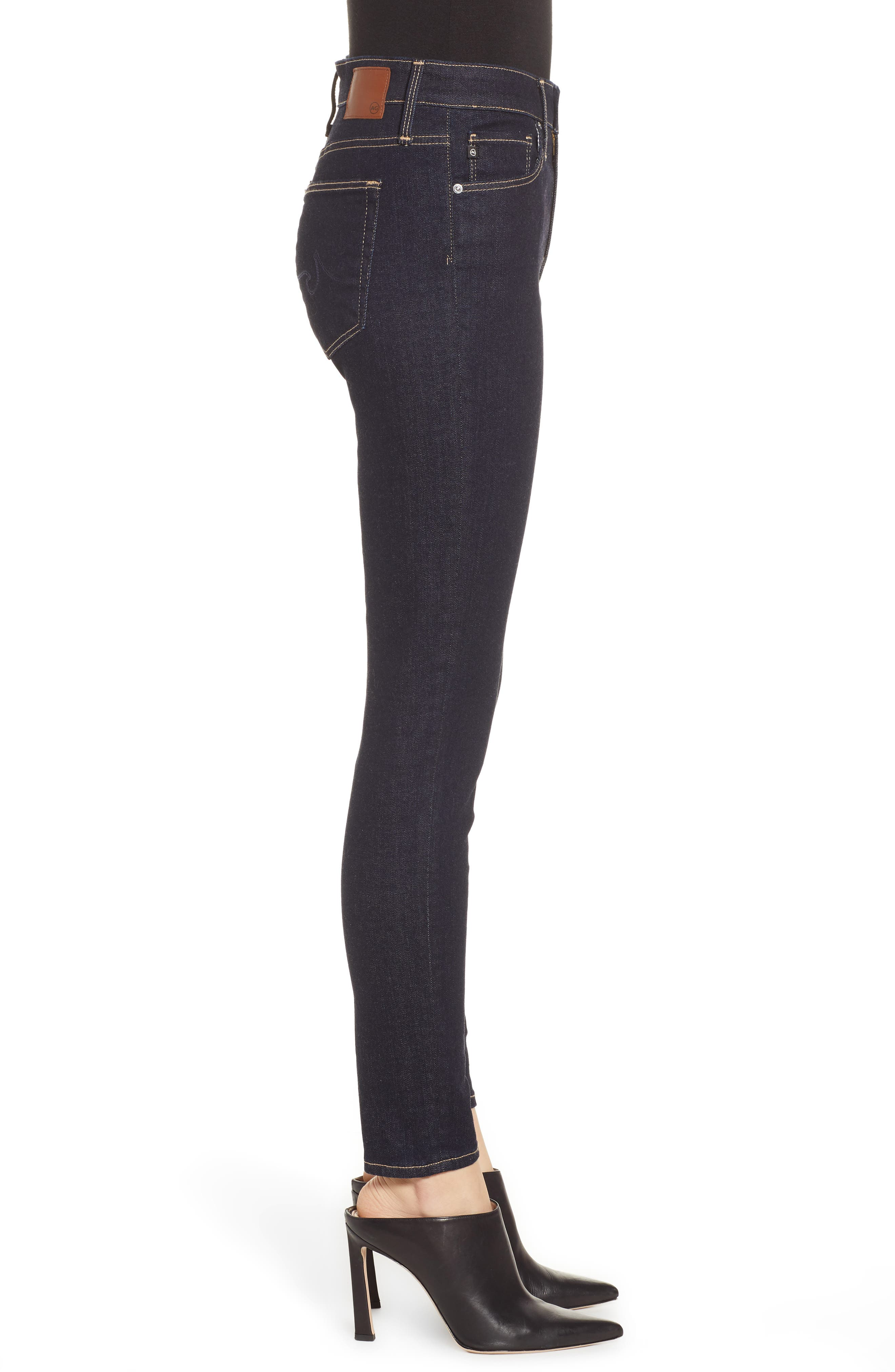 AG, The Farrah Ankle Skinny Jeans, Alternate thumbnail 4, color, INDIGO SPRING