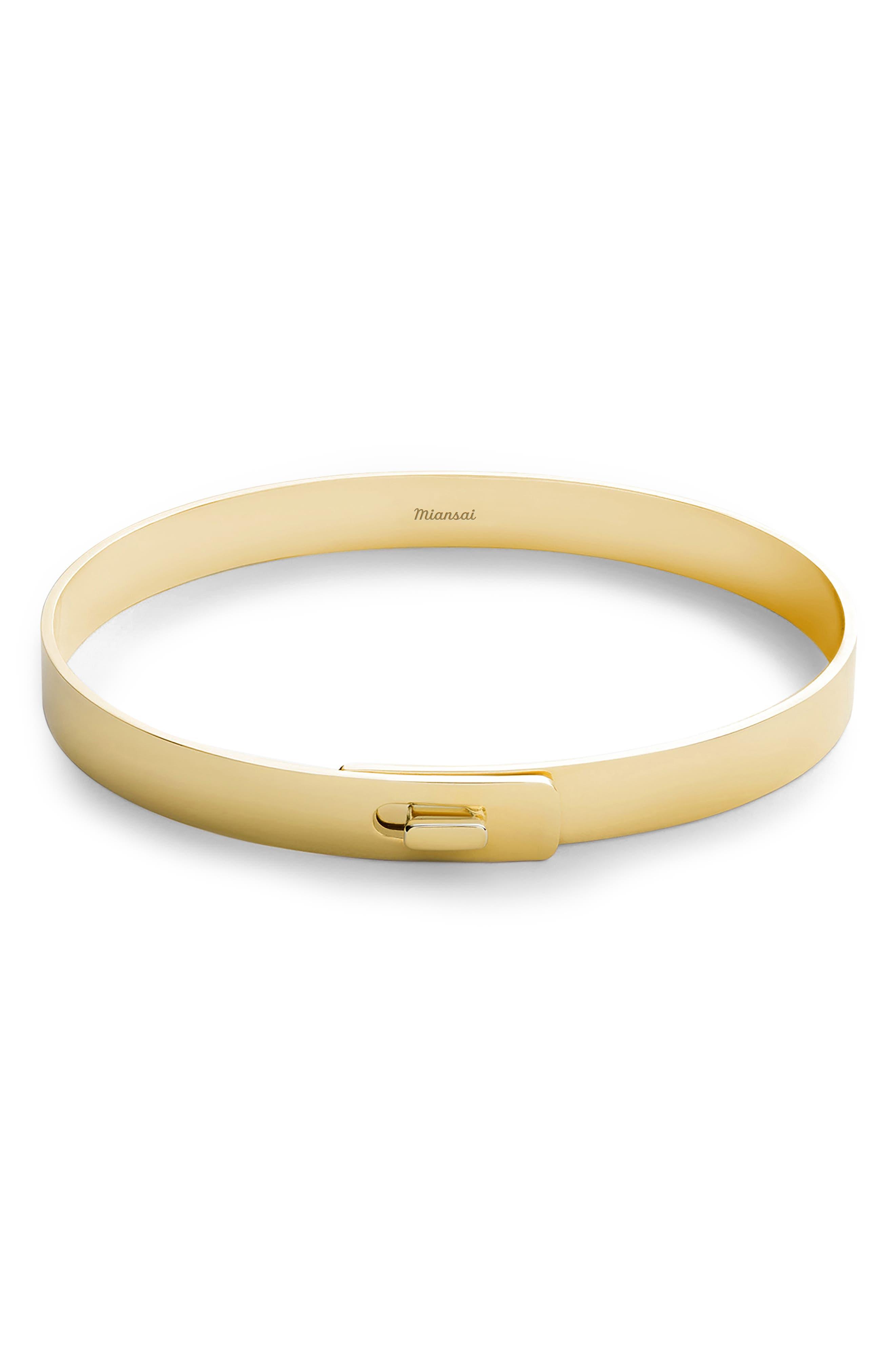 MIANSAI Gold Vermeil Cuff Bracelet, Main, color, 715