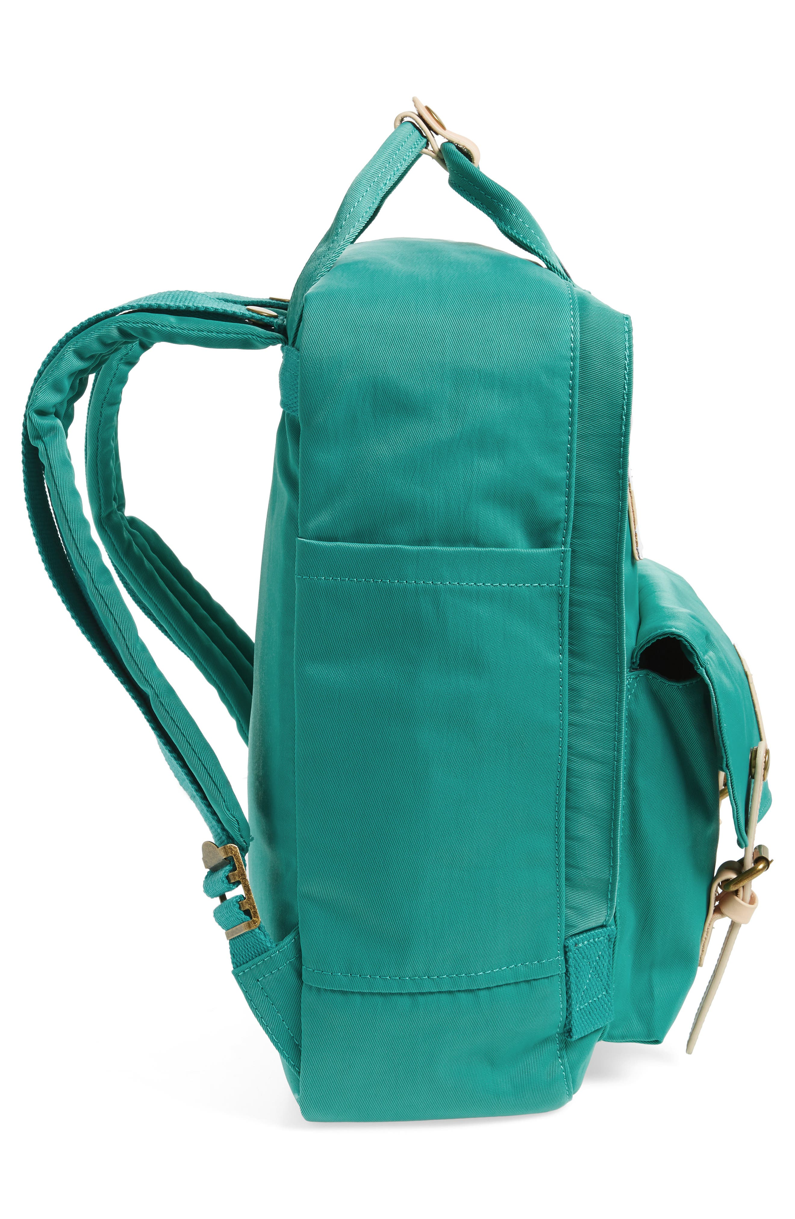 DOUGHNUT, Macaroon Water Resistant Backpack, Alternate thumbnail 5, color, MINT