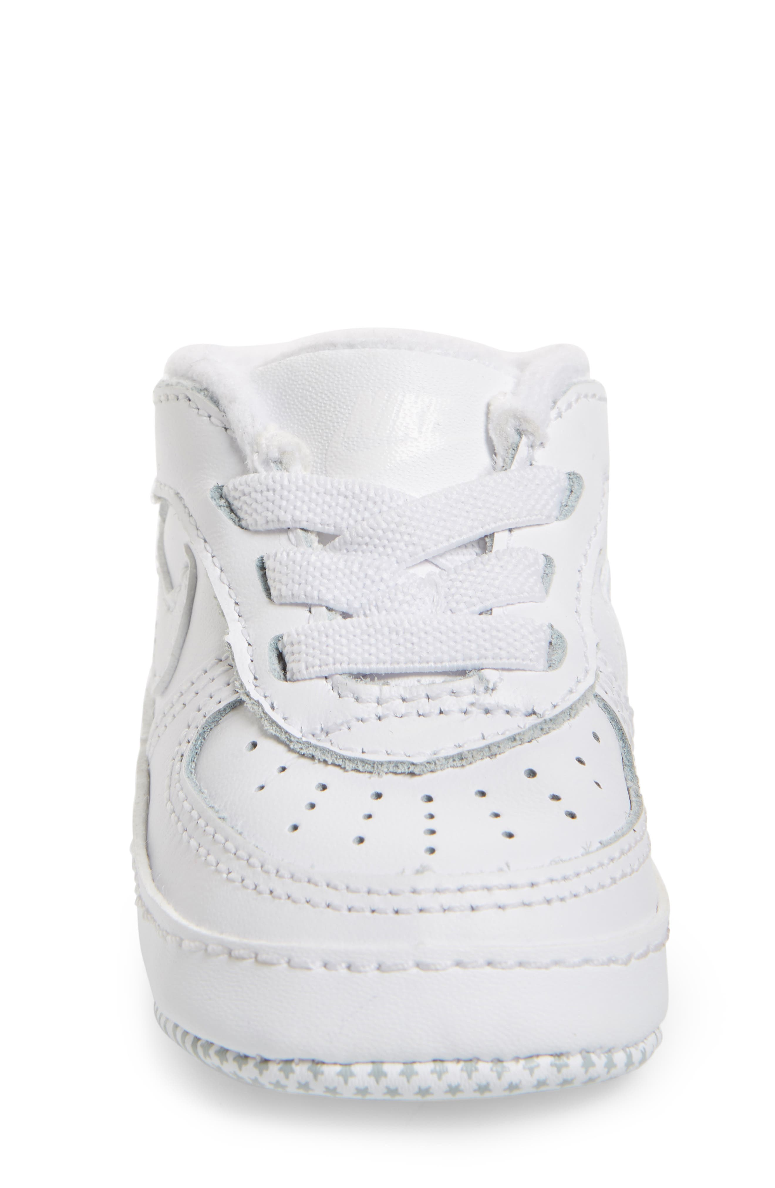 NIKE, Air Force 1 Sneaker, Alternate thumbnail 4, color, WHITE/ WHITE/ WHITE